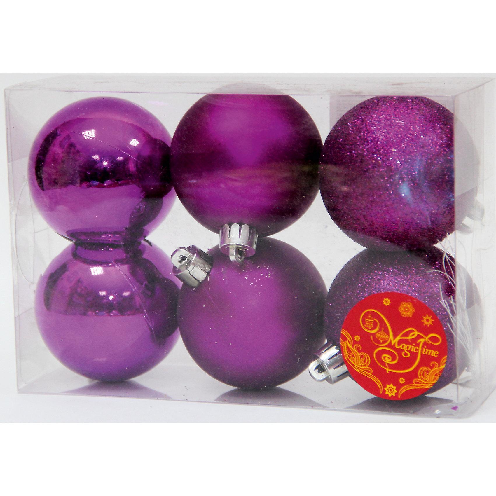 Набор шаров Пурпурный блеск 6 штВсё для праздника<br>Набор шаров Пурпурный блеск 6 шт – этот набор принесет в ваш дом ни с чем несравнимое ощущение праздника!<br>Набор новогодних подвесных украшений Пурпурный блеск прекрасно подойдет для праздничного декора вашей ели. Набор состоит из 6 шаров пурпурного цвета, изготовленных из полистирола - 2 матовых, 2 глянцевых, 2 покрытых глиттером. Для удобного размещения на елке для каждого шара предусмотрена петелька. Елочная игрушка - символ Нового года. Она несет в себе волшебство и красоту праздника. Создайте в своем доме атмосферу веселья и радости, украшая новогоднюю елку нарядными игрушками, которые будут из года в год накапливать теплоту воспоминаний. Откройте для себя удивительный мир сказок и грез. Почувствуйте волшебные минуты ожидания праздника, создайте новогоднее настроение вашим близким.<br><br>Дополнительная информация:<br><br>- В наборе: 6 шаров<br>- Материал: полистирол<br>- Цвет: пурпурный<br>- Размер упаковки: 12 х 6 х 5 см.<br><br>Набор шаров Пурпурный блеск 6 шт можно купить в нашем интернет-магазине.<br><br>Ширина мм: 300<br>Глубина мм: 250<br>Высота мм: 100<br>Вес г: 560<br>Возраст от месяцев: 36<br>Возраст до месяцев: 2147483647<br>Пол: Унисекс<br>Возраст: Детский<br>SKU: 4981539