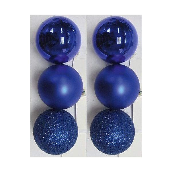 Набор шаров Синий блеск 6 штЁлочные игрушки<br>Набор шаров Синий блеск 6 шт – этот набор принесет в ваш дом ни с чем несравнимое ощущение праздника!<br>Набор новогодних подвесных украшений Синий блеск прекрасно подойдет для праздничного декора вашей ели. Набор состоит из 6 шаров синего цвета, изготовленных из полистирола - 2 матовых, 2 глянцевых, 2 покрытых глиттером. Для удобного размещения на елке для каждого шара предусмотрена петелька. Елочная игрушка - символ Нового года. Она несет в себе волшебство и красоту праздника. Создайте в своем доме атмосферу веселья и радости, украшая новогоднюю елку нарядными игрушками, которые будут из года в год накапливать теплоту воспоминаний. Откройте для себя удивительный мир сказок и грез. Почувствуйте волшебные минуты ожидания праздника, создайте новогоднее настроение вашим близким.<br><br>Дополнительная информация:<br><br>- В наборе: 6 шаров<br>- Материал: полистирол<br>- Цвет: синий<br>- Размер упаковки: 18 х 12 х 6 см.<br><br>Набор шаров Синий блеск 6 шт можно купить в нашем интернет-магазине.<br>Ширина мм: 300; Глубина мм: 250; Высота мм: 100; Вес г: 570; Возраст от месяцев: 36; Возраст до месяцев: 2147483647; Пол: Унисекс; Возраст: Детский; SKU: 4981542;
