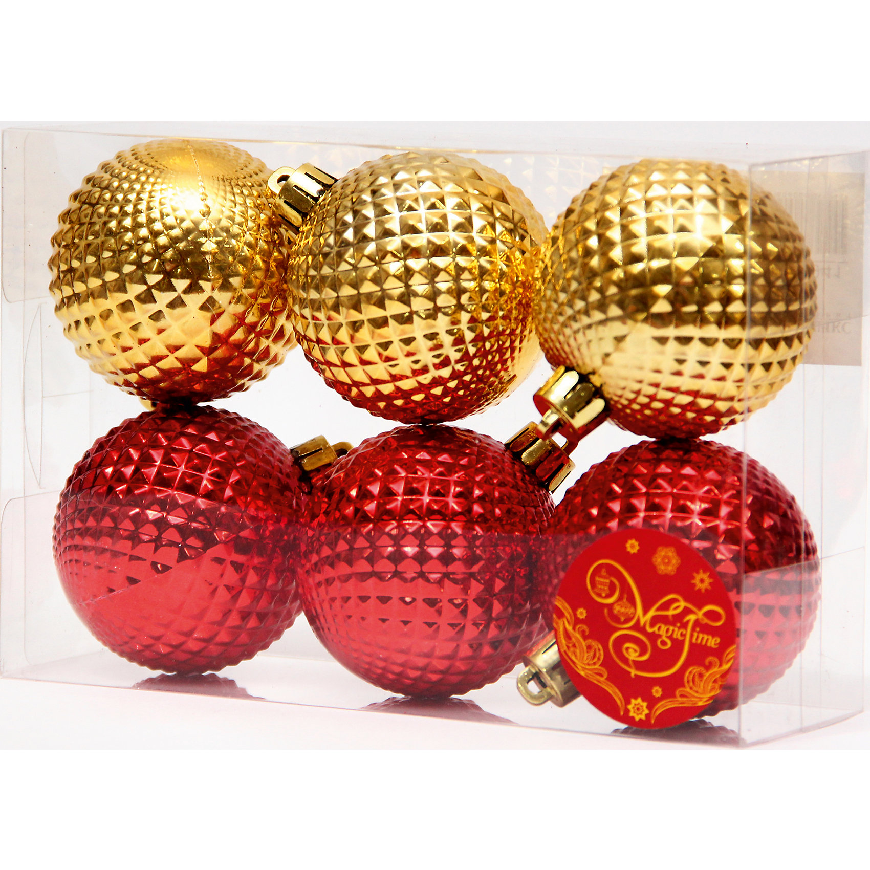Набор шаров Золотые и красные шары 6 штНабор шаров Золотые и красные шары 6 шт – этот набор принесет в ваш дом ни с чем несравнимое ощущение праздника!<br>Набор новогодних подвесных украшений Золотые и красные шары прекрасно подойдет для праздничного декора вашей ели. Набор состоит из 6 шаров, изготовленных из полистирола – 3 красного цвета, 3 золотого цвета. Для удобного размещения на елке для каждого шара предусмотрена петелька. Елочная игрушка - символ Нового года. Она несет в себе волшебство и красоту праздника. Создайте в своем доме атмосферу веселья и радости, украшая новогоднюю елку нарядными игрушками, которые будут из года в год накапливать теплоту воспоминаний. Откройте для себя удивительный мир сказок и грез. Почувствуйте волшебные минуты ожидания праздника, создайте новогоднее настроение вашим близким.<br><br>Дополнительная информация:<br><br>- В наборе: 6 шаров<br>- Материал: полистирол<br>- Цвет: красный, золотой<br>- Размер упаковки: 18 х 12 х 6 см.<br><br>Набор шаров Золотые и красные шары 6 шт можно купить в нашем интернет-магазине.<br><br>Ширина мм: 300<br>Глубина мм: 250<br>Высота мм: 100<br>Вес г: 570<br>Возраст от месяцев: 36<br>Возраст до месяцев: 2147483647<br>Пол: Унисекс<br>Возраст: Детский<br>SKU: 4981543