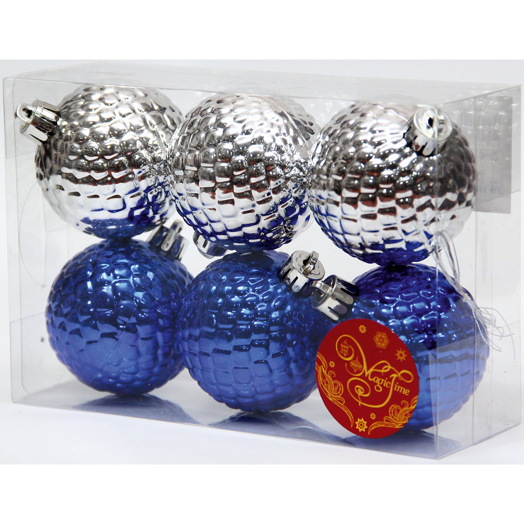 Набор шаров Синие и серебряные шары 6 штНабор шаров Синие и серебряные шары 6 шт – этот набор принесет в ваш дом ни с чем несравнимое ощущение праздника!<br>Набор новогодних подвесных украшений Синие и серебряные шары прекрасно подойдет для праздничного декора вашей ели. Набор состоит из 6 шаров, изготовленных из полистирола – 3 синего цвета, 3 серебристого цвета. Для удобного размещения на елке для каждого шара предусмотрена петелька. Елочная игрушка - символ Нового года. Она несет в себе волшебство и красоту праздника. Создайте в своем доме атмосферу веселья и радости, украшая новогоднюю елку нарядными игрушками, которые будут из года в год накапливать теплоту воспоминаний. Откройте для себя удивительный мир сказок и грез. Почувствуйте волшебные минуты ожидания праздника, создайте новогоднее настроение вашим близким.<br><br>Дополнительная информация:<br><br>- В наборе: 6 шаров<br>- Материал: полистирол<br>- Цвет: синий, серебристый<br>- Размер упаковки: 18 х 12 х 6 см.<br><br>Набор шаров Синие и серебряные шары 6 шт можно купить в нашем интернет-магазине.<br><br>Ширина мм: 300<br>Глубина мм: 250<br>Высота мм: 100<br>Вес г: 570<br>Возраст от месяцев: 36<br>Возраст до месяцев: 2147483647<br>Пол: Унисекс<br>Возраст: Детский<br>SKU: 4981544