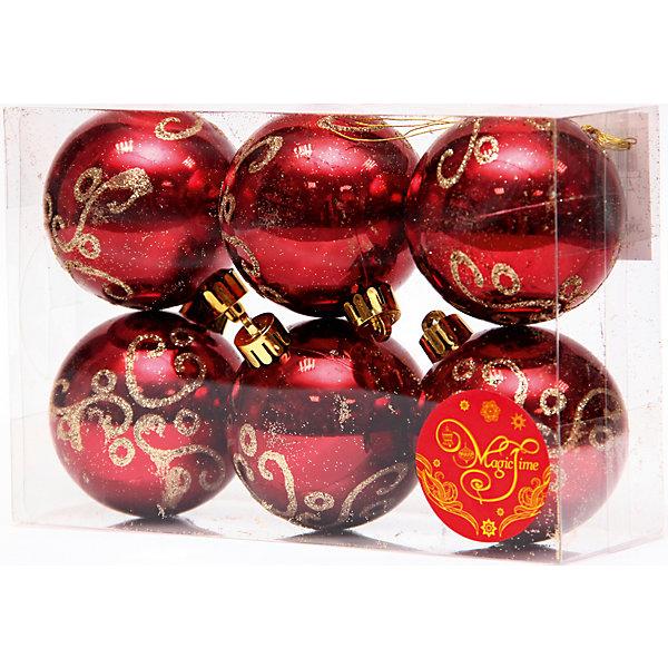 Набор шаров Бордо с золотыми кружевами 6 штЁлочные игрушки<br>Набор шаров Бордо с золотыми кружевами 6 шт – этот набор принесет в ваш дом ни с чем несравнимое ощущение праздника!<br>Набор новогодних подвесных украшений Бордо с золотыми кружевами прекрасно подойдет для праздничного декора вашей ели. Набор состоит из 6 глянцевых шаров бордового цвета, изготовленных из полистирола. Каждый шар украшен блестящим золотым рисунком. Для удобного размещения на елке для каждого шара предусмотрена петелька. Елочная игрушка - символ Нового года. Она несет в себе волшебство и красоту праздника. Создайте в своем доме атмосферу веселья и радости, украшая новогоднюю елку нарядными игрушками, которые будут из года в год накапливать теплоту воспоминаний. Откройте для себя удивительный мир сказок и грез. Почувствуйте волшебные минуты ожидания праздника, создайте новогоднее настроение вашим близким.<br><br>Дополнительная информация:<br><br>- В наборе: 6 шаров<br>- Материал: полистирол<br>- Цвет: бордовый, золотой<br>- Размер упаковки: 8 х 12 х 6 см.<br><br>Набор шаров Бордо с золотыми кружевами 6 шт можно купить в нашем интернет-магазине.<br><br>Ширина мм: 300<br>Глубина мм: 250<br>Высота мм: 100<br>Вес г: 550<br>Возраст от месяцев: 36<br>Возраст до месяцев: 2147483647<br>Пол: Унисекс<br>Возраст: Детский<br>SKU: 4981545