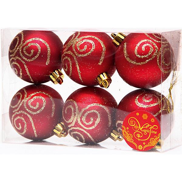 Набор шаров Красный с золотой вьюгой 6 штЁлочные игрушки<br>Набор шаров Красный с золотой вьюгой 6 шт – этот набор принесет в ваш дом ни с чем несравнимое ощущение праздника!<br>Набор новогодних подвесных украшений Красный с золотой вьюгой прекрасно подойдет для праздничного декора вашей ели. Набор состоит из 6 матовых шаров красного цвета, изготовленных из полистирола. Каждый шар украшен блестящими золотыми узорами. Для удобного размещения на елке для каждого шара предусмотрена петелька. Елочная игрушка - символ Нового года. Она несет в себе волшебство и красоту праздника. Создайте в своем доме атмосферу веселья и радости, украшая новогоднюю елку нарядными игрушками, которые будут из года в год накапливать теплоту воспоминаний. Откройте для себя удивительный мир сказок и грез. Почувствуйте волшебные минуты ожидания праздника, создайте новогоднее настроение вашим близким.<br><br>Дополнительная информация:<br><br>- В наборе: 6 шаров<br>- Материал: полистирол<br>- Цвет: красный, золотой<br>- Размер упаковки: 18 х 12 х 6 см.<br><br>Набор шаров Красный с золотой вьюгой 6 шт можно купить в нашем интернет-магазине.<br>Ширина мм: 300; Глубина мм: 250; Высота мм: 100; Вес г: 570; Возраст от месяцев: 36; Возраст до месяцев: 2147483647; Пол: Унисекс; Возраст: Детский; SKU: 4981551;