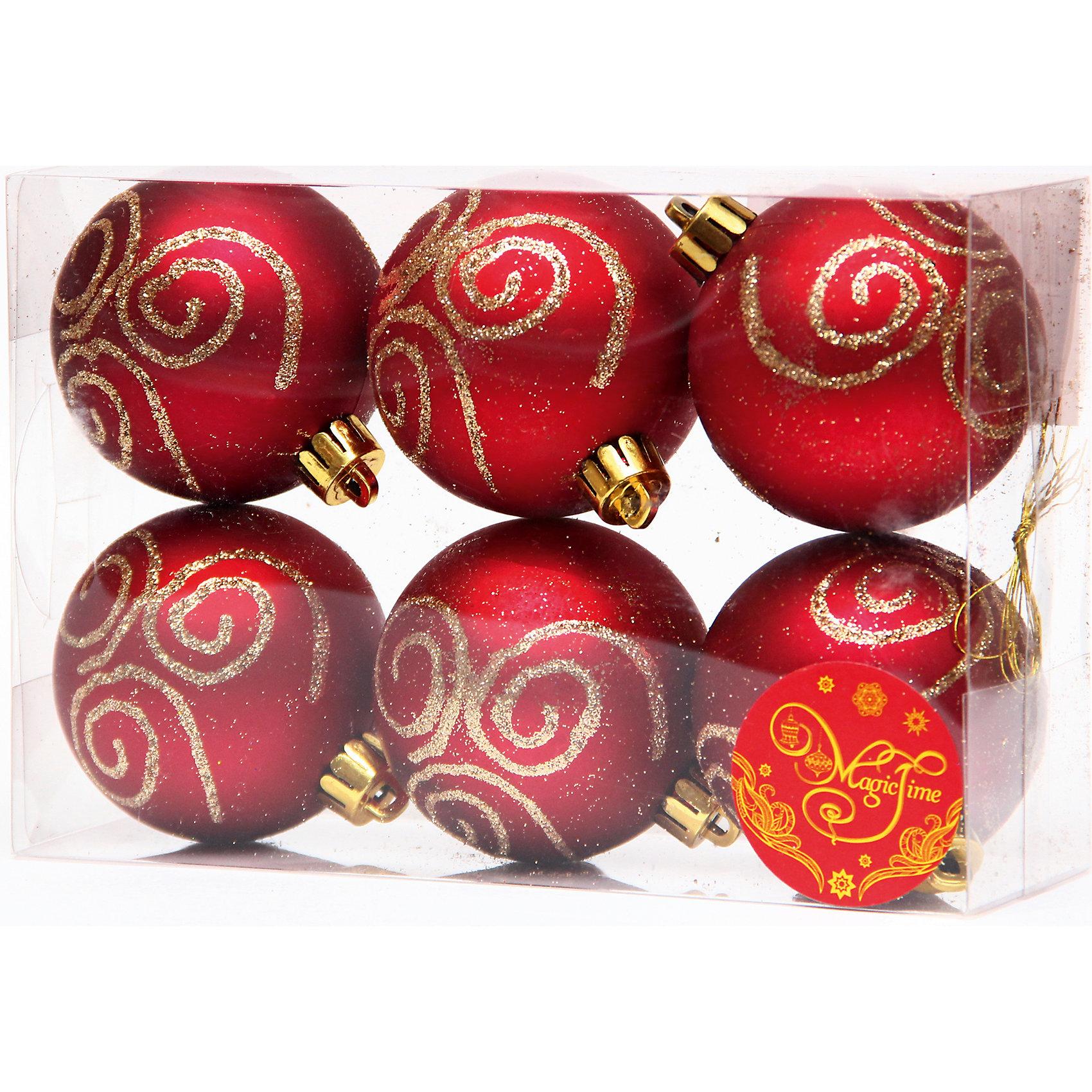 Набор шаров Красный с золотой вьюгой 6 штВсё для праздника<br>Набор шаров Красный с золотой вьюгой 6 шт – этот набор принесет в ваш дом ни с чем несравнимое ощущение праздника!<br>Набор новогодних подвесных украшений Красный с золотой вьюгой прекрасно подойдет для праздничного декора вашей ели. Набор состоит из 6 матовых шаров красного цвета, изготовленных из полистирола. Каждый шар украшен блестящими золотыми узорами. Для удобного размещения на елке для каждого шара предусмотрена петелька. Елочная игрушка - символ Нового года. Она несет в себе волшебство и красоту праздника. Создайте в своем доме атмосферу веселья и радости, украшая новогоднюю елку нарядными игрушками, которые будут из года в год накапливать теплоту воспоминаний. Откройте для себя удивительный мир сказок и грез. Почувствуйте волшебные минуты ожидания праздника, создайте новогоднее настроение вашим близким.<br><br>Дополнительная информация:<br><br>- В наборе: 6 шаров<br>- Материал: полистирол<br>- Цвет: красный, золотой<br>- Размер упаковки: 18 х 12 х 6 см.<br><br>Набор шаров Красный с золотой вьюгой 6 шт можно купить в нашем интернет-магазине.<br><br>Ширина мм: 300<br>Глубина мм: 250<br>Высота мм: 100<br>Вес г: 570<br>Возраст от месяцев: 36<br>Возраст до месяцев: 2147483647<br>Пол: Унисекс<br>Возраст: Детский<br>SKU: 4981551