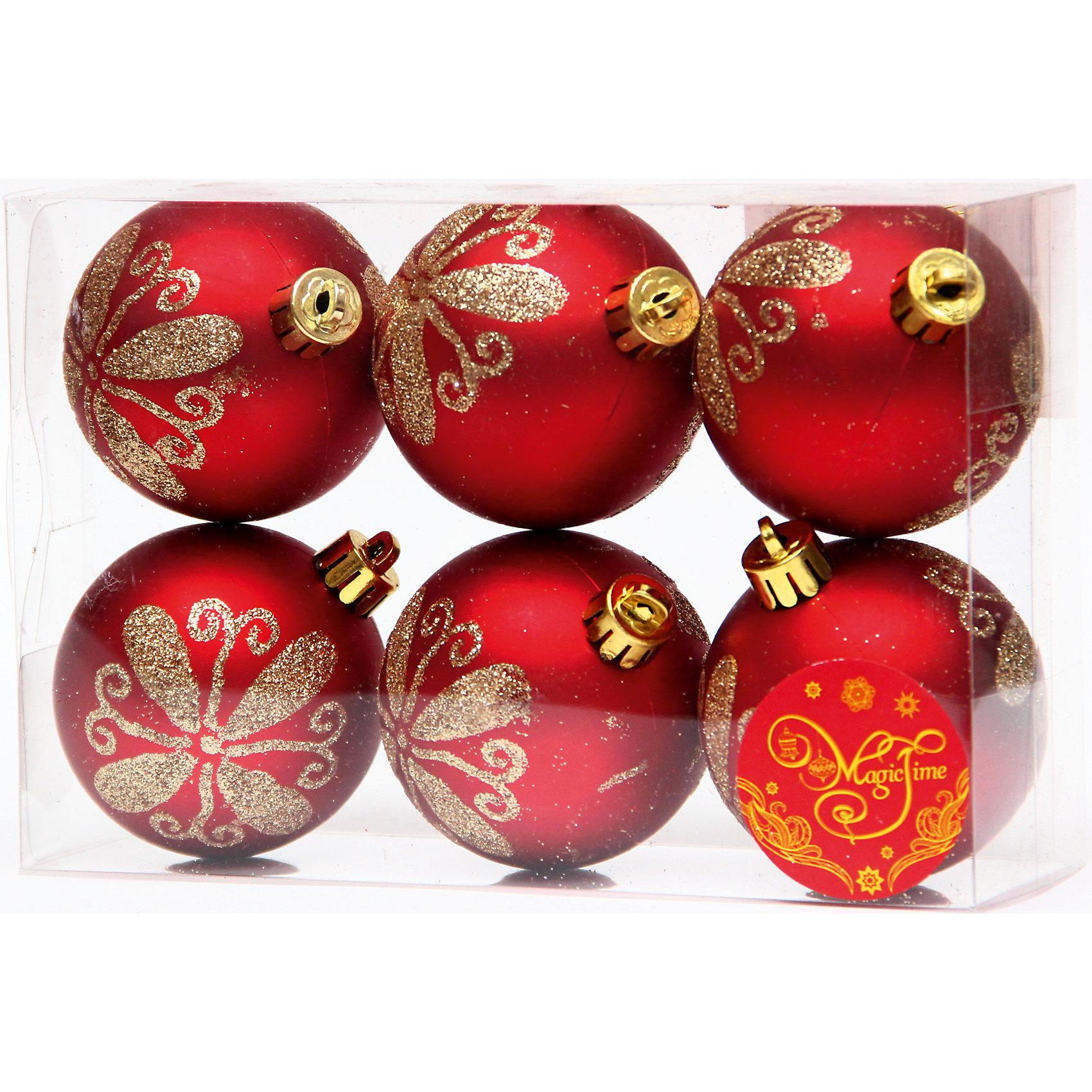 Набор шаров Красный с золотым цветком 6 штНабор шаров Красный с золотым цветком 6 шт – этот набор принесет в ваш дом ни с чем несравнимое ощущение праздника!<br>Набор новогодних подвесных украшений Красный с золотым цветком прекрасно подойдет для праздничного декора вашей ели. Набор состоит из 6 матовых шаров красного цвета, изготовленных из полистирола. Каждый шар украшен блестящим золотым цветком. Для удобного размещения на елке для каждого шара предусмотрена петелька. Елочная игрушка - символ Нового года. Она несет в себе волшебство и красоту праздника. Создайте в своем доме атмосферу веселья и радости, украшая новогоднюю елку нарядными игрушками, которые будут из года в год накапливать теплоту воспоминаний. Откройте для себя удивительный мир сказок и грез. Почувствуйте волшебные минуты ожидания праздника, создайте новогоднее настроение вашим близким.<br><br>Дополнительная информация:<br><br>- В наборе: 6 шаров<br>- Материал: полистирол<br>- Цвет: красный, золотой<br>- Размер упаковки: 8 х 12 х 6 см.<br><br>Набор шаров Красный с золотым цветком 6 шт можно купить в нашем интернет-магазине.<br><br>Ширина мм: 300<br>Глубина мм: 250<br>Высота мм: 100<br>Вес г: 550<br>Возраст от месяцев: 36<br>Возраст до месяцев: 2147483647<br>Пол: Унисекс<br>Возраст: Детский<br>SKU: 4981552