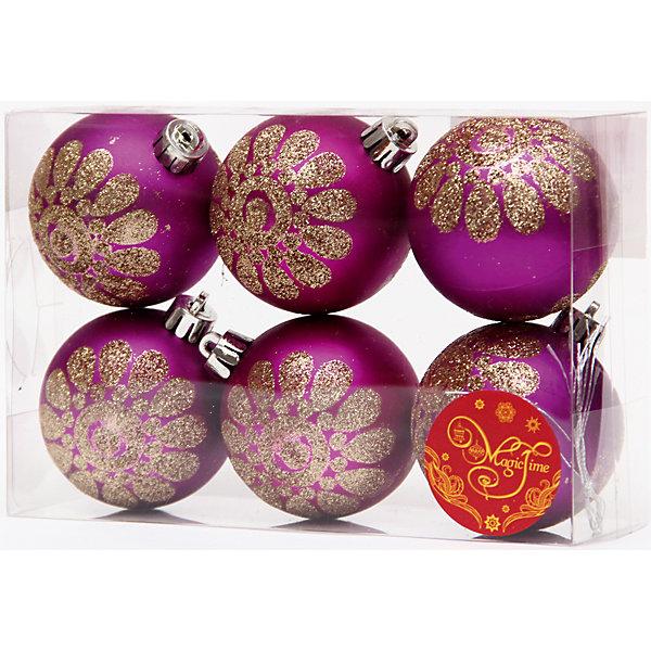 Набор шаров Пурпурный с золотым цветком 6 штЁлочные игрушки<br>Набор шаров Пурпурный с золотым цветком 6 шт – этот набор принесет в ваш дом ни с чем несравнимое ощущение праздника!<br>Набор новогодних подвесных украшений Пурпурный с золотым цветком прекрасно подойдет для праздничного декора вашей ели. Набор состоит из 6 матовых шаров пурпурного цвета, изготовленных из полистирола. Каждый шар украшен блестящим золотым цветком. Для удобного размещения на елке для каждого шара предусмотрена петелька. Елочная игрушка - символ Нового года. Она несет в себе волшебство и красоту праздника. Создайте в своем доме атмосферу веселья и радости, украшая новогоднюю елку нарядными игрушками, которые будут из года в год накапливать теплоту воспоминаний. Откройте для себя удивительный мир сказок и грез. Почувствуйте волшебные минуты ожидания праздника, создайте новогоднее настроение вашим близким.<br><br>Дополнительная информация:<br><br>- В наборе: 6 шаров<br>- Материал: полистирол<br>- Цвет: пурпурный, золотой<br>- Размер упаковки: 8 х 12 х 6 см.<br><br>Набор шаров Пурпурный с золотым цветком 6 шт можно купить в нашем интернет-магазине.<br><br>Ширина мм: 300<br>Глубина мм: 250<br>Высота мм: 100<br>Вес г: 550<br>Возраст от месяцев: 36<br>Возраст до месяцев: 2147483647<br>Пол: Унисекс<br>Возраст: Детский<br>SKU: 4981553