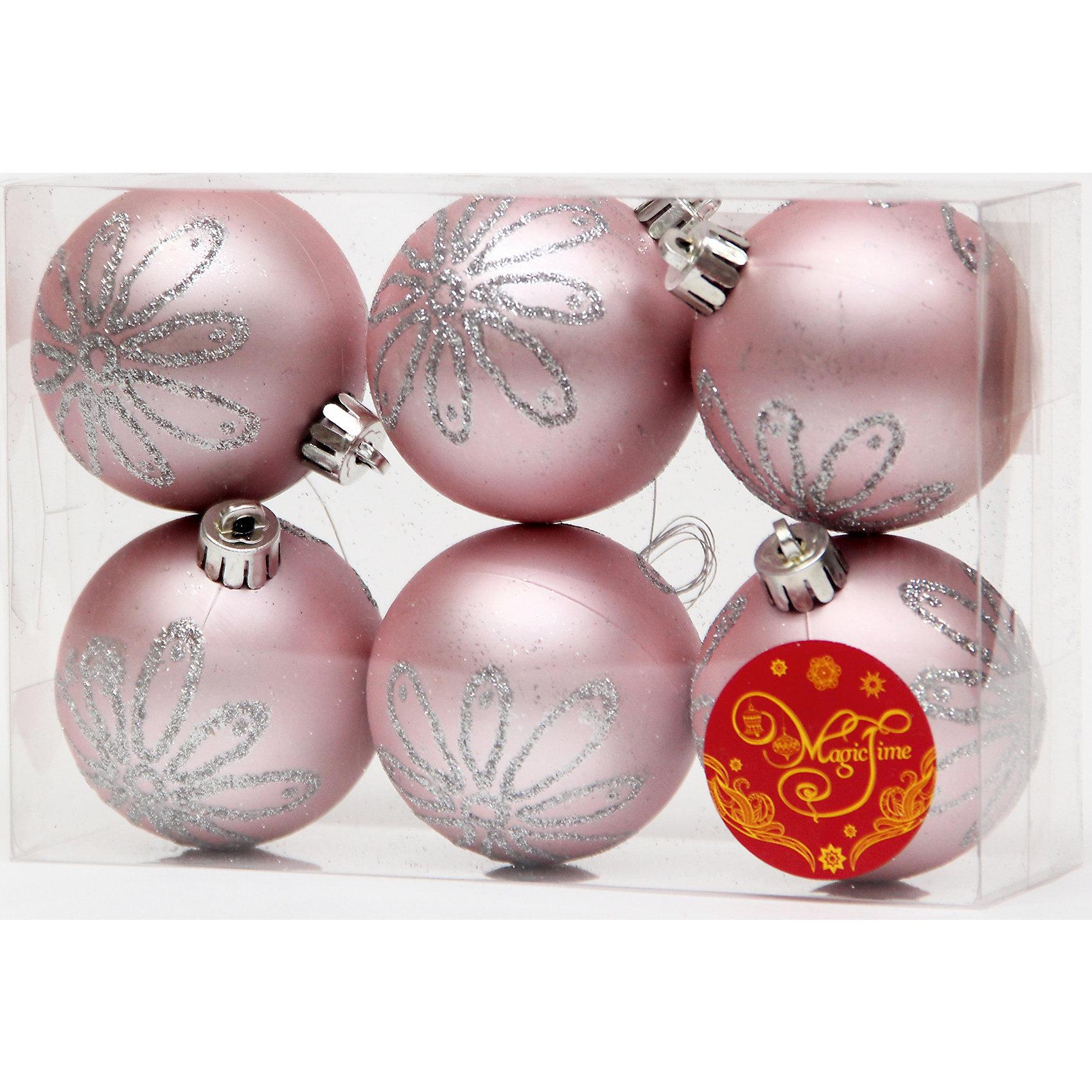 Набор шаров Розовый с серебряной ромашкой 6 штЁлочные игрушки<br>Новый год - самый любимый праздник у многих детей и взрослых. Праздничное настроение создает в первую очередь украшенный дом и, особенно, наряженная ёлка. Будь она из леса или искусственная - такой набор украсит любую!<br>Он сделан тиз безопасного для детей, прочного, но легкого, материала, поэтому не разобьется, упав на пол. Благодаря расцветке украшение отлично смотрится на ёлке. Создайте с ним праздничное настроение себе и близким!<br><br>Дополнительная информация:<br><br>цвет: розовый, серебряный;<br>материал: полистирол;<br>комплектация: 6 шт;<br>размер: 6 см.<br><br>Набор шаров Розовый с серебряной ромашкой 6 шт можно купить в нашем магазине.<br><br>Ширина мм: 300<br>Глубина мм: 250<br>Высота мм: 100<br>Вес г: 550<br>Возраст от месяцев: 36<br>Возраст до месяцев: 2147483647<br>Пол: Унисекс<br>Возраст: Детский<br>SKU: 4981554