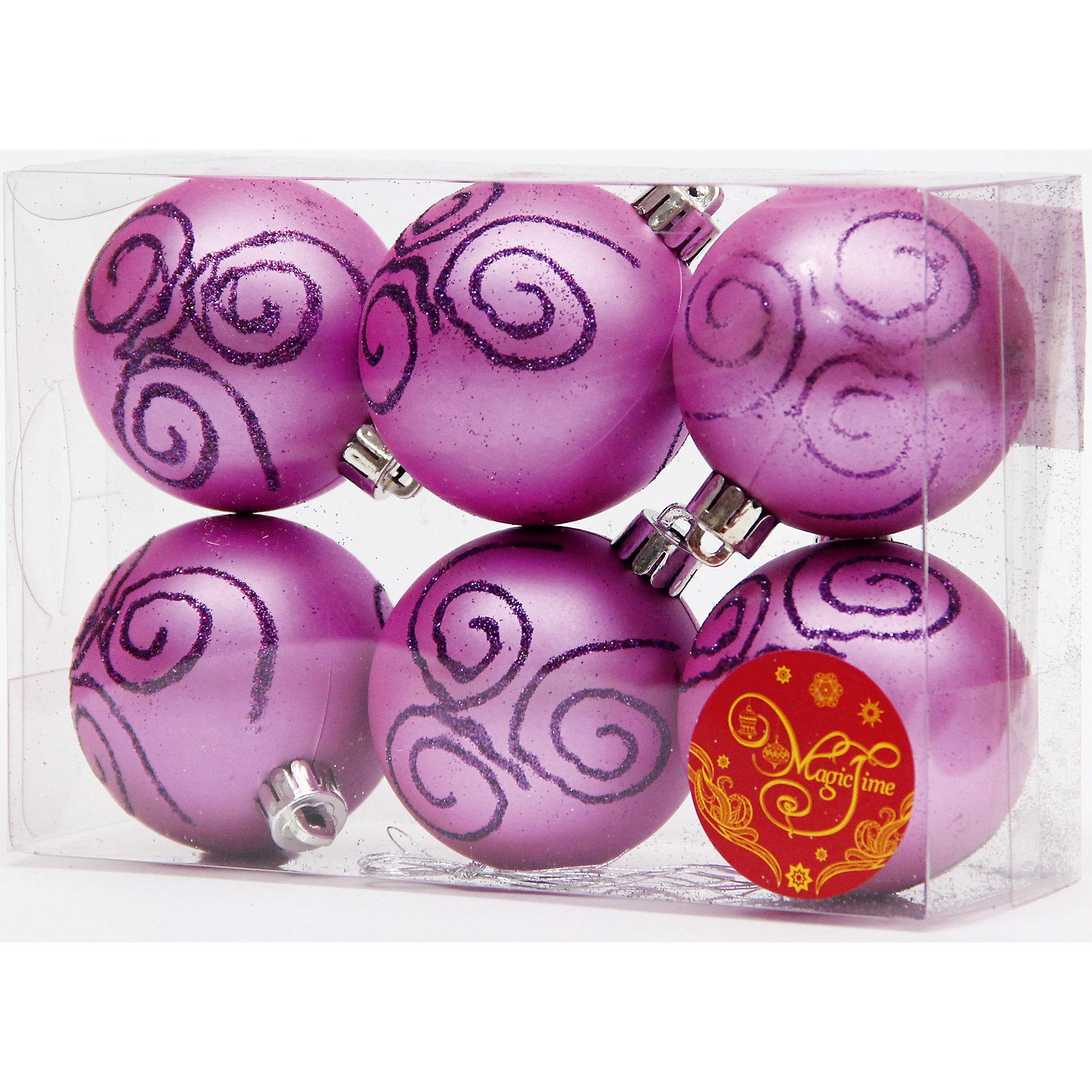 Набор шаров Фиолетовый с пурпурной вьюгой 6 штНовый год - самый любимый праздник у многих детей и взрослых. Праздничное настроение создает в первую очередь украшенный дом и, особенно, наряженная ёлка. Будь она из леса или искусственная - такой набор украсит любую!<br>Он сделан тиз безопасного для детей, прочного, но легкого, материала, поэтому не разобьется, упав на пол. Благодаря расцветке украшение отлично смотрится на ёлке. Создайте с ним праздничное настроение себе и близким!<br><br>Дополнительная информация:<br><br>цвет: фиолетовый;<br>материал: полистирол;<br>комплектация: 6 шт;<br>размер: 6 см.<br><br>Набор шаров Фиолетовый с пурпурной вьюгой 6 шт можно купить в нашем магазине.<br><br>Ширина мм: 300<br>Глубина мм: 250<br>Высота мм: 100<br>Вес г: 550<br>Возраст от месяцев: 36<br>Возраст до месяцев: 2147483647<br>Пол: Унисекс<br>Возраст: Детский<br>SKU: 4981561