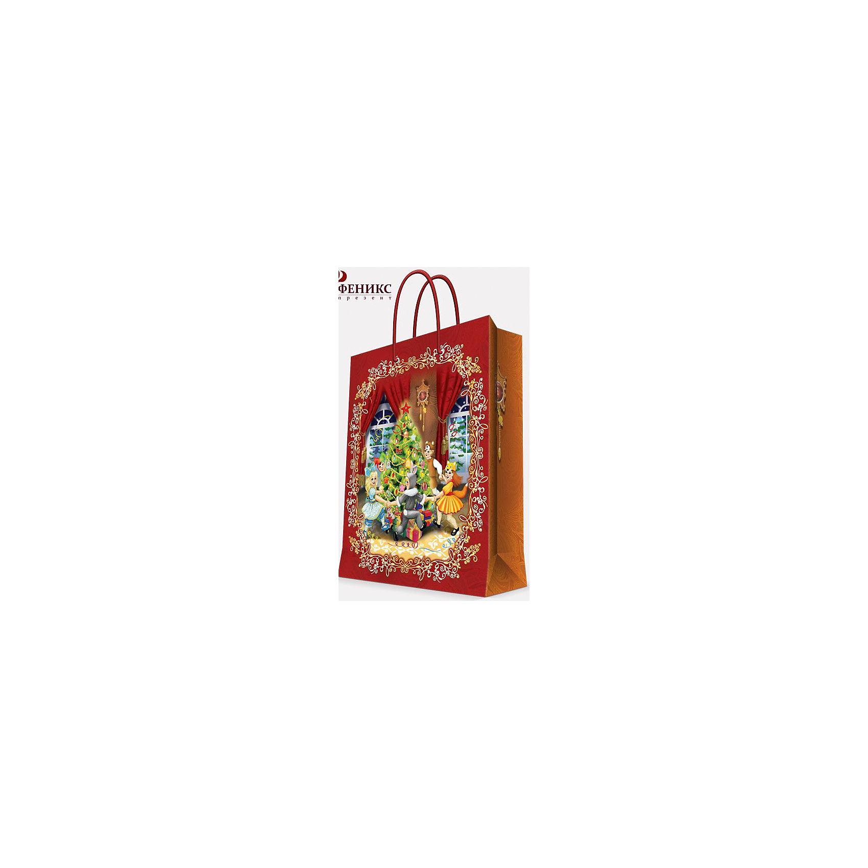 Подарочный пакет Веселый хоровод 17,8*22,9*9,8 смПредновогодние хлопоты многие любят даже больше самого праздника! Праздничное настроение создает украшенный дом, наряженная ёлка, запах мандаринов, предновогодняя суета и, конечно же, подарки! Чтобы сделать момент вручения приятнее, нужен красивый подарочный пакет.<br>Этот пакет украшен симпатичным универсальным рисунком, поэтому в него можно упаковать подарок и родственнику, и коллеге. Он сделан из безопасного для детей, прочного, но легкого, материала. Создайте с ним праздничное настроение себе и близким!<br><br>Дополнительная информация:<br><br>плотность бумаги: 140 г/м2;<br>размер: 18 х 23 х 10 см;<br>с ламинацией;<br>украшен рисунком.<br><br>Подарочный пакет Веселый хоровод 17,8*22,9*9,8 см можно купить в нашем магазине.<br><br>Ширина мм: 178<br>Глубина мм: 229<br>Высота мм: 98<br>Вес г: 42<br>Возраст от месяцев: 36<br>Возраст до месяцев: 2147483647<br>Пол: Унисекс<br>Возраст: Детский<br>SKU: 4981568