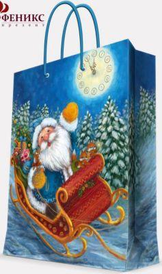 Magic Time Подарочный Пакет Дед Мороз В Санях 17,8*22,9*9,8 См