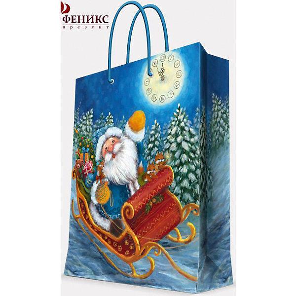 Подарочный пакет Дед Мороз в санях 17,8*22,9*9,8 смУпаковка новогоднего подарка<br>Предновогодние хлопоты многие любят даже больше самого праздника! Праздничное настроение создает украшенный дом, наряженная ёлка, запах мандаринов, предновогодняя суета и, конечно же, подарки! Чтобы сделать момент вручения приятнее, нужен красивый подарочный пакет.<br>Этот пакет украшен симпатичным универсальным рисунком, поэтому в него можно упаковать подарок и родственнику, и коллеге. Он сделан из безопасного для детей, прочного, но легкого, материала. Создайте с ним праздничное настроение себе и близким!<br><br>Дополнительная информация:<br><br>плотность бумаги: 140 г/м2;<br>размер: 18 х 23 х 10 см;<br>с ламинацией;<br>украшен рисунком.<br><br>Подарочный пакет Дед Мороз в санях 17,8*22,9*9,8 см можно купить в нашем магазине.<br><br>Ширина мм: 178<br>Глубина мм: 229<br>Высота мм: 98<br>Вес г: 42<br>Возраст от месяцев: 36<br>Возраст до месяцев: 2147483647<br>Пол: Унисекс<br>Возраст: Детский<br>SKU: 4981569