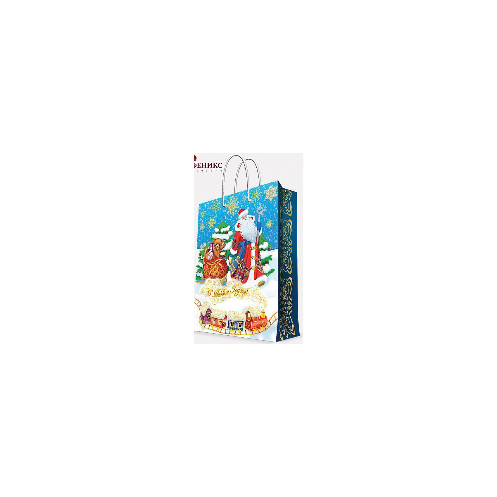 Подарочный пакет Дед Мороз и медвежонок 17,8*22,9*9,8 смПриближение Нового года не может не радовать! Праздничное настроение создает украшенный дом, наряженная ёлка, запах мандаринов, предновогодняя суета и, конечно же, подарки! Чтобы сделать момент вручения приятнее, нужен красивый подарочный пакет.<br>Этот пакет украшен симпатичным универсальным рисунком, поэтому в него можно упаковать подарок и родственнику, и коллеге. Он сделан из безопасного для детей, прочного, но легкого, материала. Создайте с ним праздничное настроение себе и близким!<br><br>Дополнительная информация:<br><br>плотность бумаги: 140 г/м2;<br>размер: 18 х 23 х 10 см;<br>с ламинацией;<br>украшен рисунком.<br><br>Подарочный пакет Дед Мороз и медвежонок 17,8*22,9*9,8 см можно купить в нашем магазине.<br><br>Ширина мм: 178<br>Глубина мм: 229<br>Высота мм: 98<br>Вес г: 42<br>Возраст от месяцев: 36<br>Возраст до месяцев: 2147483647<br>Пол: Унисекс<br>Возраст: Детский<br>SKU: 4981570