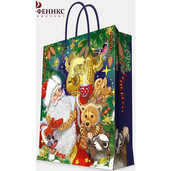 Подарочный пакет Дед Мороз с самоваром 17,8*22,9*9,8 смУпаковка новогоднего подарка<br>Предновогодние хлопоты многие любят даже больше самого праздника! Праздничное настроение создает украшенный дом, наряженная ёлка, запах мандаринов, предновогодняя суета и, конечно же, подарки! Чтобы сделать момент вручения приятнее, нужен красивый подарочный пакет.<br>Этот пакет украшен симпатичным универсальным рисунком, поэтому в него можно упаковать подарок и родственнику, и коллеге. Он сделан из безопасного для детей, прочного, но легкого, материала. Создайте с ним праздничное настроение себе и близким!<br><br>Дополнительная информация:<br><br>плотность бумаги: 140 г/м2;<br>размер: 18 х 23 х 10 см;<br>с ламинацией;<br>украшен рисунком.<br><br>Подарочный пакет Дед Мороз с самоваром 17,8*22,9*9,8 см можно купить в нашем магазине.<br><br>Ширина мм: 178<br>Глубина мм: 229<br>Высота мм: 98<br>Вес г: 42<br>Возраст от месяцев: 36<br>Возраст до месяцев: 2147483647<br>Пол: Унисекс<br>Возраст: Детский<br>SKU: 4981573
