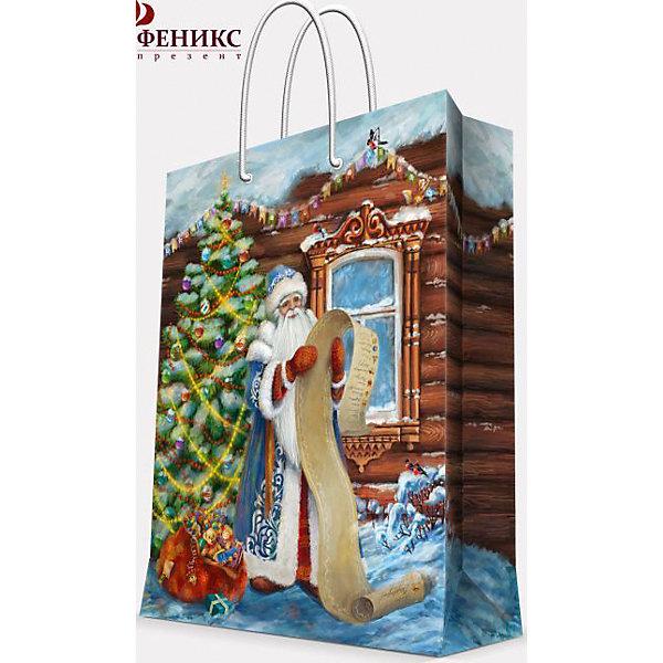 Подарочный пакет Дед Мороз со списком 17,8*22,9*9,8 смУпаковка новогоднего подарка<br>Предновогодние хлопоты многие любят даже больше самого праздника! Праздничное настроение создает украшенный дом, наряженная ёлка, запах мандаринов, предновогодняя суета и, конечно же, подарки! Чтобы сделать момент вручения приятнее, нужен красивый подарочный пакет.<br>Этот пакет украшен симпатичным универсальным рисунком, поэтому в него можно упаковать подарок и родственнику, и коллеге. Он сделан из безопасного для детей, прочного, но легкого, материала. Создайте с ним праздничное настроение себе и близким!<br><br>Дополнительная информация:<br><br>плотность бумаги: 140 г/м2;<br>размер: 18 х 23 х 10 см;<br>с ламинацией;<br>украшен рисунком.<br><br>Подарочный пакет Дед Мороз со списком 17,8*22,9*9,8 см можно купить в нашем магазине.<br><br>Ширина мм: 178<br>Глубина мм: 229<br>Высота мм: 98<br>Вес г: 42<br>Возраст от месяцев: 36<br>Возраст до месяцев: 2147483647<br>Пол: Унисекс<br>Возраст: Детский<br>SKU: 4981574