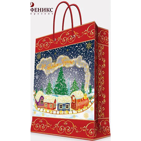 Подарочный пакет Паровозик 26*32,4*12,7 смНовогодние пакеты<br>Приближение Нового года не может не радовать! Праздничное настроение создает украшенный дом, наряженная ёлка, запах мандаринов, предновогодняя суета и, конечно же, подарки! Чтобы сделать момент вручения приятнее, нужен красивый подарочный пакет.<br>Этот пакет украшен симпатичным универсальным рисунком, поэтому в него можно упаковать подарок и родственнику, и коллеге. Он сделан из безопасного для детей, прочного, но легкого, материала. Создайте с ним праздничное настроение себе и близким!<br><br>Дополнительная информация:<br><br>плотность бумаги: 140 г/м2;<br>размер: 26 х 32 х 13 см;<br>с ламинацией;<br>украшен рисунком.<br><br>Подарочный пакет Паровозик 26*32,4*12,7 см можно купить в нашем магазине.<br><br>Ширина мм: 260<br>Глубина мм: 234<br>Высота мм: 127<br>Вес г: 74<br>Возраст от месяцев: 36<br>Возраст до месяцев: 2147483647<br>Пол: Унисекс<br>Возраст: Детский<br>SKU: 4981577