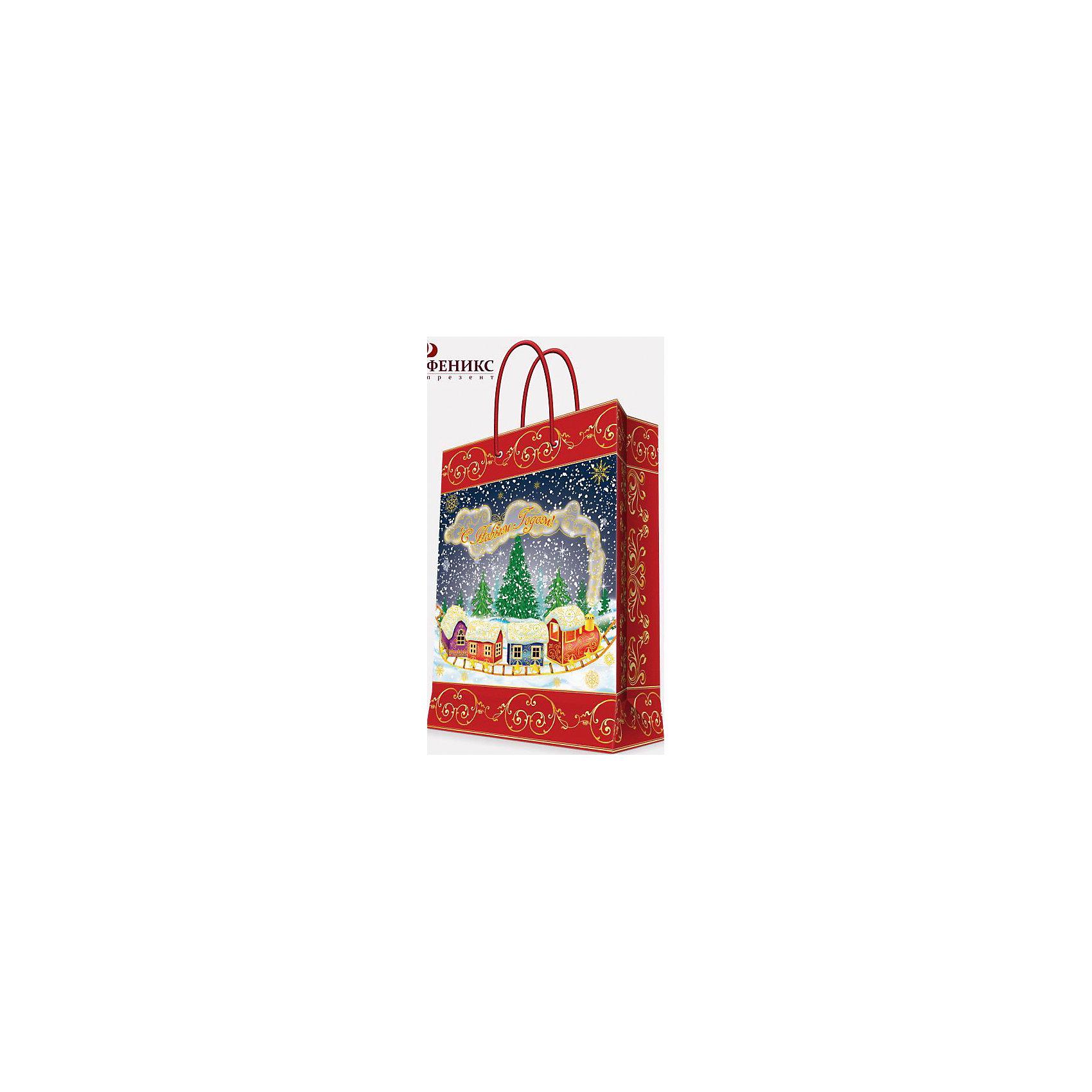 Подарочный пакет Паровозик 26*32,4*12,7 смПриближение Нового года не может не радовать! Праздничное настроение создает украшенный дом, наряженная ёлка, запах мандаринов, предновогодняя суета и, конечно же, подарки! Чтобы сделать момент вручения приятнее, нужен красивый подарочный пакет.<br>Этот пакет украшен симпатичным универсальным рисунком, поэтому в него можно упаковать подарок и родственнику, и коллеге. Он сделан из безопасного для детей, прочного, но легкого, материала. Создайте с ним праздничное настроение себе и близким!<br><br>Дополнительная информация:<br><br>плотность бумаги: 140 г/м2;<br>размер: 26 х 32 х 13 см;<br>с ламинацией;<br>украшен рисунком.<br><br>Подарочный пакет Паровозик 26*32,4*12,7 см можно купить в нашем магазине.<br><br>Ширина мм: 260<br>Глубина мм: 234<br>Высота мм: 127<br>Вес г: 74<br>Возраст от месяцев: 36<br>Возраст до месяцев: 2147483647<br>Пол: Унисекс<br>Возраст: Детский<br>SKU: 4981577