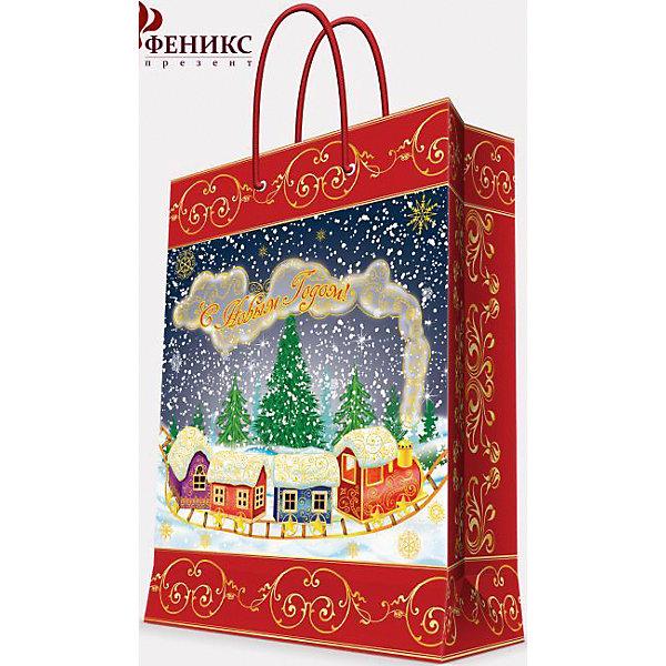 Подарочный пакет Паровозик 17,8*22,9*9,8 см