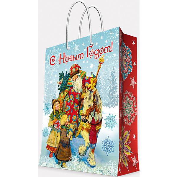 Подарочный пакет Дед Мороз и дети 17,8*22,9*9,8 смДетские подарочные пакеты<br>Предновогодние хлопоты многие любят даже больше самого праздника! Праздничное настроение создает украшенный дом, наряженная ёлка, запах мандаринов, предновогодняя суета и, конечно же, подарки! Чтобы сделать момент вручения приятнее, нужен красивый подарочный пакет.<br>Этот пакет украшен симпатичным универсальным рисунком, поэтому в него можно упаковать подарок и родственнику, и коллеге. Он сделан из безопасного для детей, прочного, но легкого, материала. Создайте с ним праздничное настроение себе и близким!<br><br>Дополнительная информация:<br><br>плотность бумаги: 140 г/м2;<br>размер: 18 х 23 х 10 см;<br>с ламинацией;<br>украшен рисунком.<br><br>Подарочный пакет Дед Мороз и дети 17,8*22,9*9,8 см можно купить в нашем магазине.<br>Ширина мм: 178; Глубина мм: 229; Высота мм: 98; Вес г: 39; Возраст от месяцев: 36; Возраст до месяцев: 2147483647; Пол: Унисекс; Возраст: Детский; SKU: 4981586;