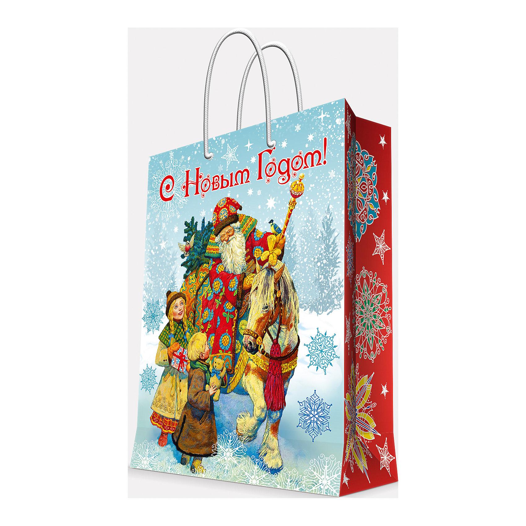Подарочный пакет Дед Мороз и дети 17,8*22,9*9,8 смВсё для праздника<br>Предновогодние хлопоты многие любят даже больше самого праздника! Праздничное настроение создает украшенный дом, наряженная ёлка, запах мандаринов, предновогодняя суета и, конечно же, подарки! Чтобы сделать момент вручения приятнее, нужен красивый подарочный пакет.<br>Этот пакет украшен симпатичным универсальным рисунком, поэтому в него можно упаковать подарок и родственнику, и коллеге. Он сделан из безопасного для детей, прочного, но легкого, материала. Создайте с ним праздничное настроение себе и близким!<br><br>Дополнительная информация:<br><br>плотность бумаги: 140 г/м2;<br>размер: 18 х 23 х 10 см;<br>с ламинацией;<br>украшен рисунком.<br><br>Подарочный пакет Дед Мороз и дети 17,8*22,9*9,8 см можно купить в нашем магазине.<br><br>Ширина мм: 178<br>Глубина мм: 229<br>Высота мм: 98<br>Вес г: 39<br>Возраст от месяцев: 36<br>Возраст до месяцев: 2147483647<br>Пол: Унисекс<br>Возраст: Детский<br>SKU: 4981586