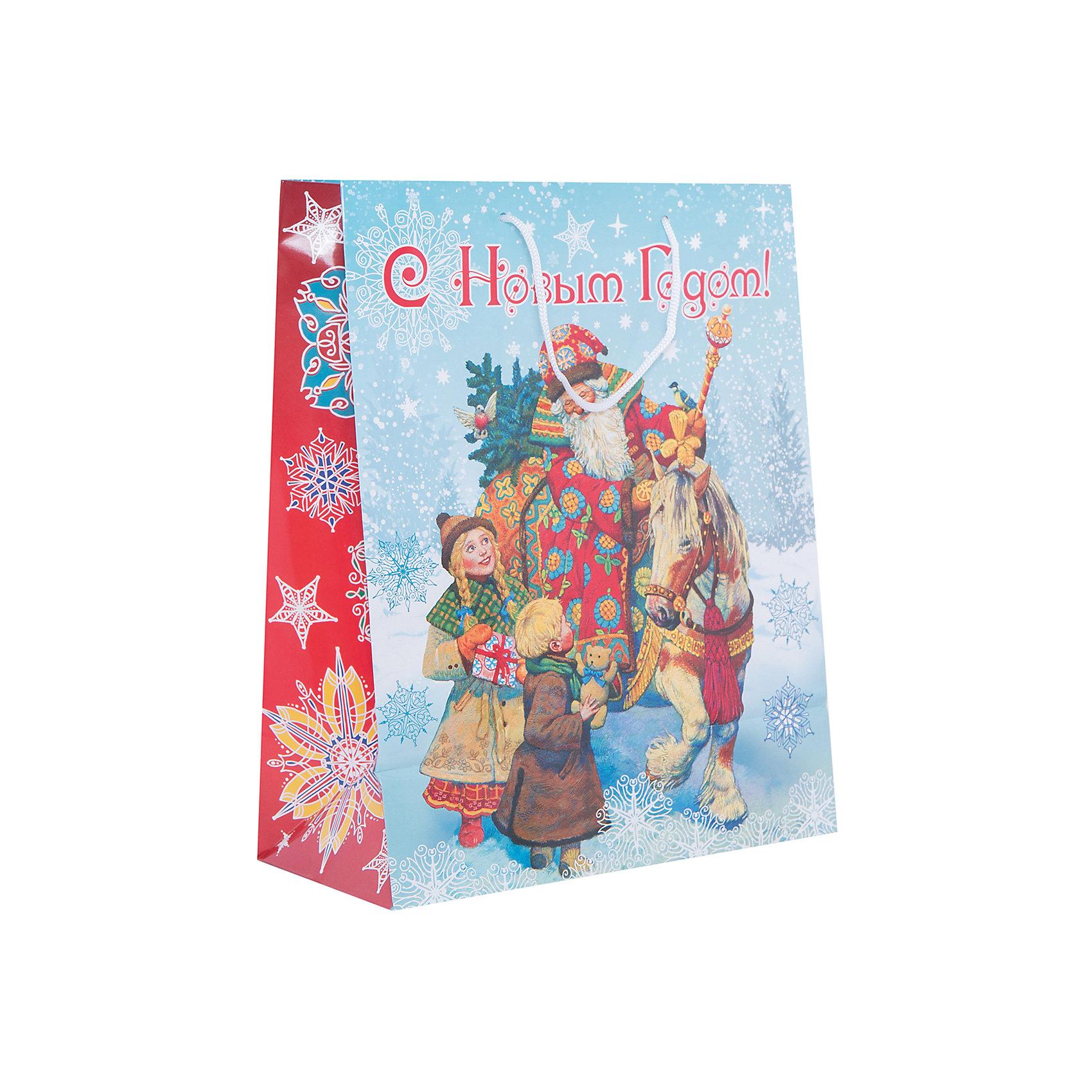 Подарочный пакет Дед Мороз и дети 26*32,4*12,7 смПриближение Нового года не может не радовать! Праздничное настроение создает украшенный дом, наряженная ёлка, запах мандаринов, предновогодняя суета и, конечно же, подарки! Чтобы сделать момент вручения приятнее, нужен красивый подарочный пакет.<br>Этот пакет украшен симпатичным универсальным рисунком, поэтому в него можно упаковать подарок и родственнику, и коллеге. Он сделан из безопасного для детей, прочного, но легкого, материала. Создайте с ним праздничное настроение себе и близким!<br><br>Дополнительная информация:<br><br>плотность бумаги: 140 г/м2;<br>размер: 26 х 32 х 13 см;<br>с ламинацией;<br>украшен рисунком.<br><br>Подарочный пакет Дед Мороз и дети 26*32,4*12,7 см можно купить в нашем магазине.<br><br>Ширина мм: 260<br>Глубина мм: 234<br>Высота мм: 127<br>Вес г: 67<br>Возраст от месяцев: 36<br>Возраст до месяцев: 2147483647<br>Пол: Унисекс<br>Возраст: Детский<br>SKU: 4981587
