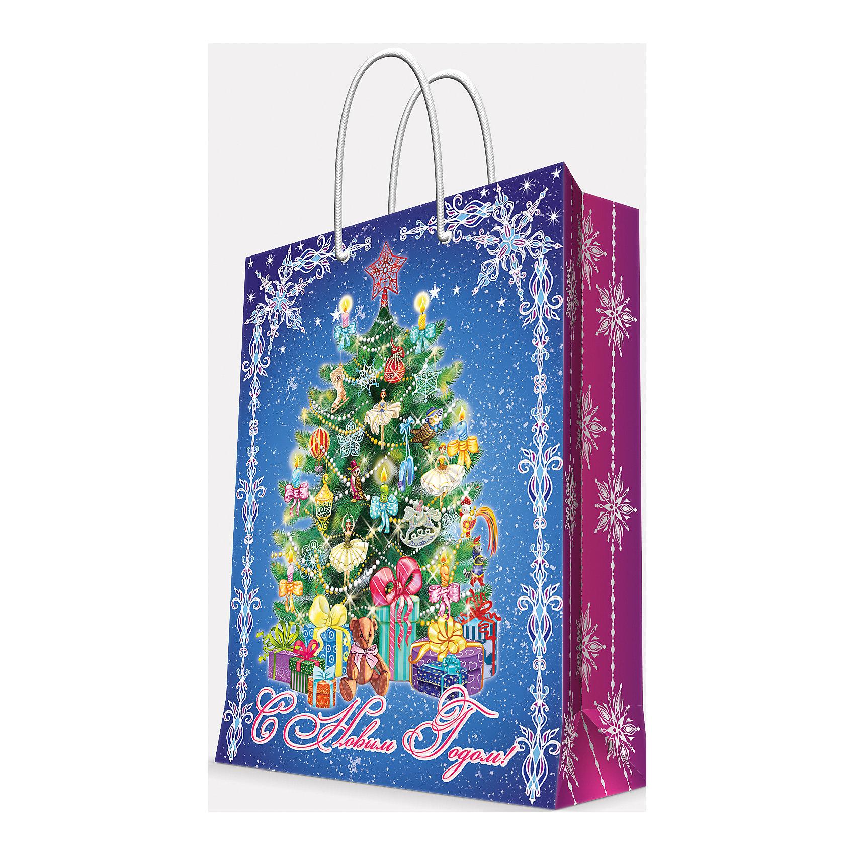 Magic Time Подарочный пакет Пушистая елочка 17,8*22,9*9,8 см magic time подарочный пакет новогодняя лампа 26 32 4 12 7 см