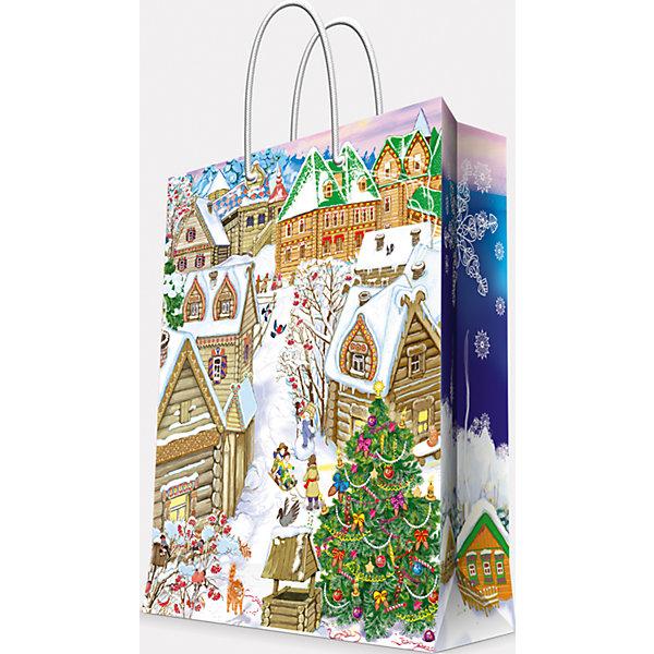 Подарочный пакет Снежный город 17,8*22,9*9,8 смЁлочные игрушки<br>Предновогодние хлопоты многие любят даже больше самого праздника! Праздничное настроение создает украшенный дом, наряженная ёлка, запах мандаринов, предновогодняя суета и, конечно же, подарки! Чтобы сделать момент вручения приятнее, нужен красивый подарочный пакет.<br>Этот пакет украшен симпатичным универсальным рисунком, поэтому в него можно упаковать подарок и родственнику, и коллеге. Он сделан из безопасного для детей, прочного, но легкого, материала. Создайте с ним праздничное настроение себе и близким!<br><br>Дополнительная информация:<br><br>плотность бумаги: 140 г/м2;<br>размер: 18 х 23 х 10 см;<br>с ламинацией;<br>украшен рисунком.<br><br>Подарочный пакет Снежный город 17,8*22,9*9,8 см можно купить в нашем магазине.<br>Ширина мм: 178; Глубина мм: 229; Высота мм: 98; Вес г: 39; Возраст от месяцев: 36; Возраст до месяцев: 2147483647; Пол: Унисекс; Возраст: Детский; SKU: 4981604;