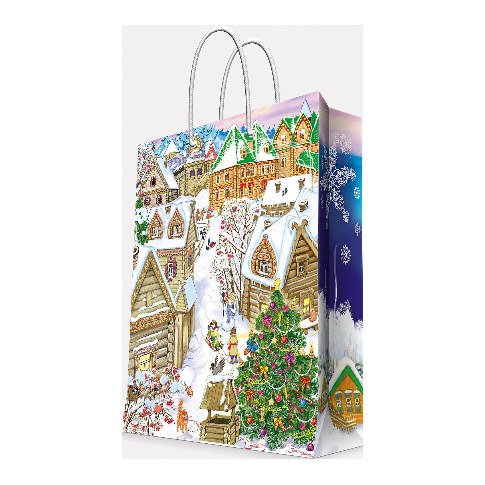 Подарочный пакет Снежный город 26*32,4*12,7 смВсё для праздника<br>Приближение Нового года не может не радовать! Праздничное настроение создает украшенный дом, наряженная ёлка, запах мандаринов, предновогодняя суета и, конечно же, подарки! Чтобы сделать момент вручения приятнее, нужен красивый подарочный пакет.<br>Этот пакет украшен симпатичным универсальным рисунком, поэтому в него можно упаковать подарок и родственнику, и коллеге. Он сделан из безопасного для детей, прочного, но легкого, материала. Создайте с ним праздничное настроение себе и близким!<br><br>Дополнительная информация:<br><br>плотность бумаги: 140 г/м2;<br>размер: 26 х 32 х 13 см;<br>с ламинацией;<br>украшен рисунком.<br><br>Подарочный пакет Снежный город 26*32,4*12,7 см можно купить в нашем магазине.<br><br>Ширина мм: 260<br>Глубина мм: 234<br>Высота мм: 127<br>Вес г: 71<br>Возраст от месяцев: 36<br>Возраст до месяцев: 2147483647<br>Пол: Унисекс<br>Возраст: Детский<br>SKU: 4981605