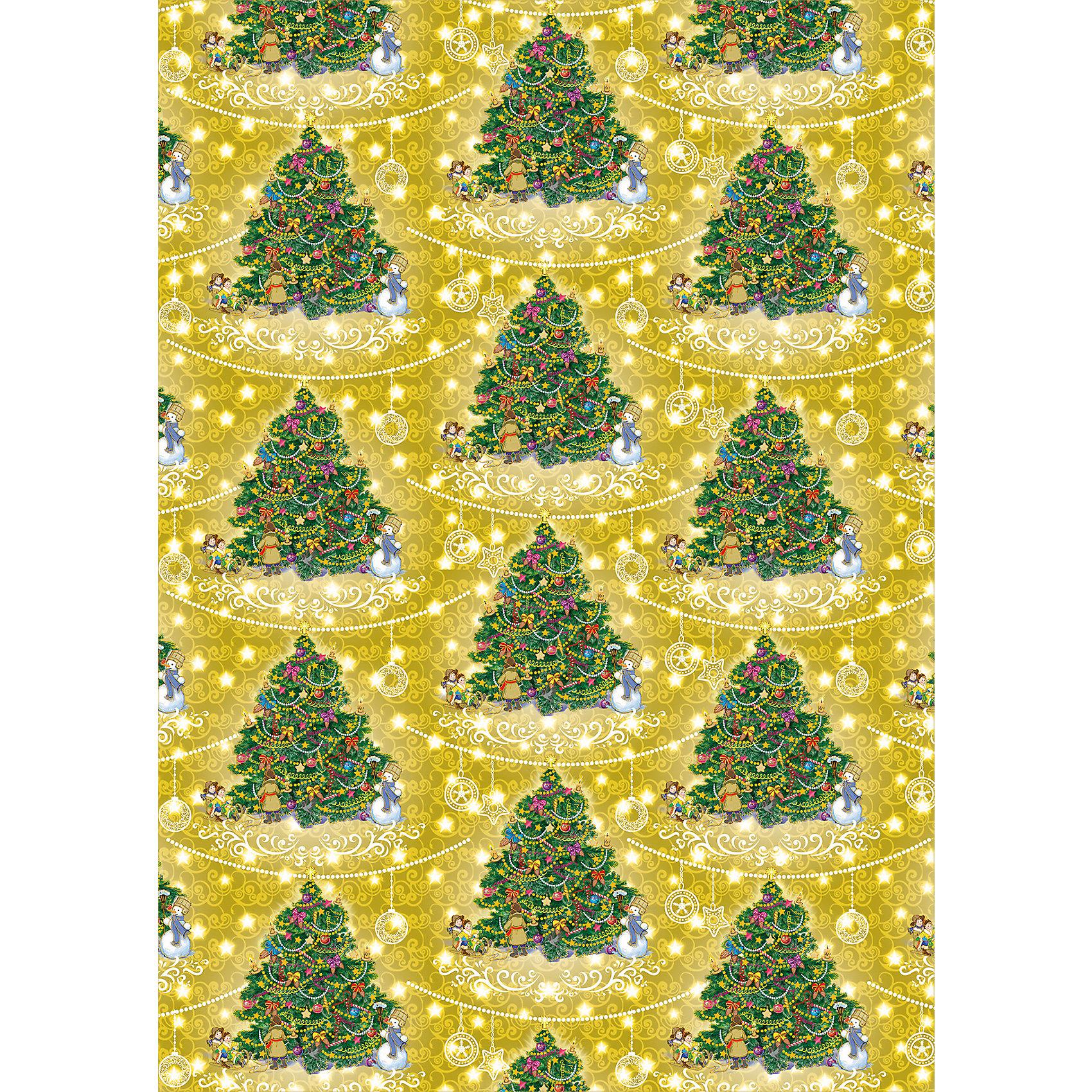 Упаковочная бумага Золотая елка 100*70 смВсё для праздника<br>Подарки – та часть новогоднего праздника, за которую Новый год любят все дети. Зачастую упаковке подарков уделяют недостаточно много внимания, делая акцент на содержании. С одной стороны, подход верный. Но всегда приятно получить подарок, который красиво упакован и пофантазировать, что же там внутри. Упаковочная новогодняя бумага облегчит процесс обертывания подарка и сделает его быстрым и приятным. Материалы, использованные при изготовлении товара, абсолютно безопасны и отвечают всем международным требованиям по качеству. <br><br>Дополнительные характеристики:<br><br>плотность бумаги: 80 г/м2;<br>украшена рисунком;<br>размер: 100 х 70 мм.<br><br>Упаковочную бумагу Золотая елка от компании Феникс Present можно приобрести в нашем магазине.<br><br>Ширина мм: 100<br>Глубина мм: 100<br>Высота мм: 60<br>Вес г: 62<br>Возраст от месяцев: 36<br>Возраст до месяцев: 2147483647<br>Пол: Унисекс<br>Возраст: Детский<br>SKU: 4981615