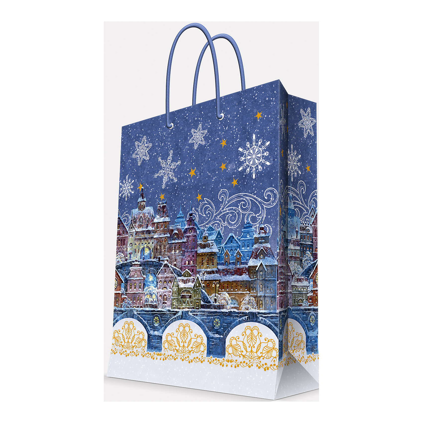 Magic Time Подарочный пакет Сказочный город 40,6*48,9*19 см magic time подарочный пакет снегурочка с малышом 26 32 4 12 7 см