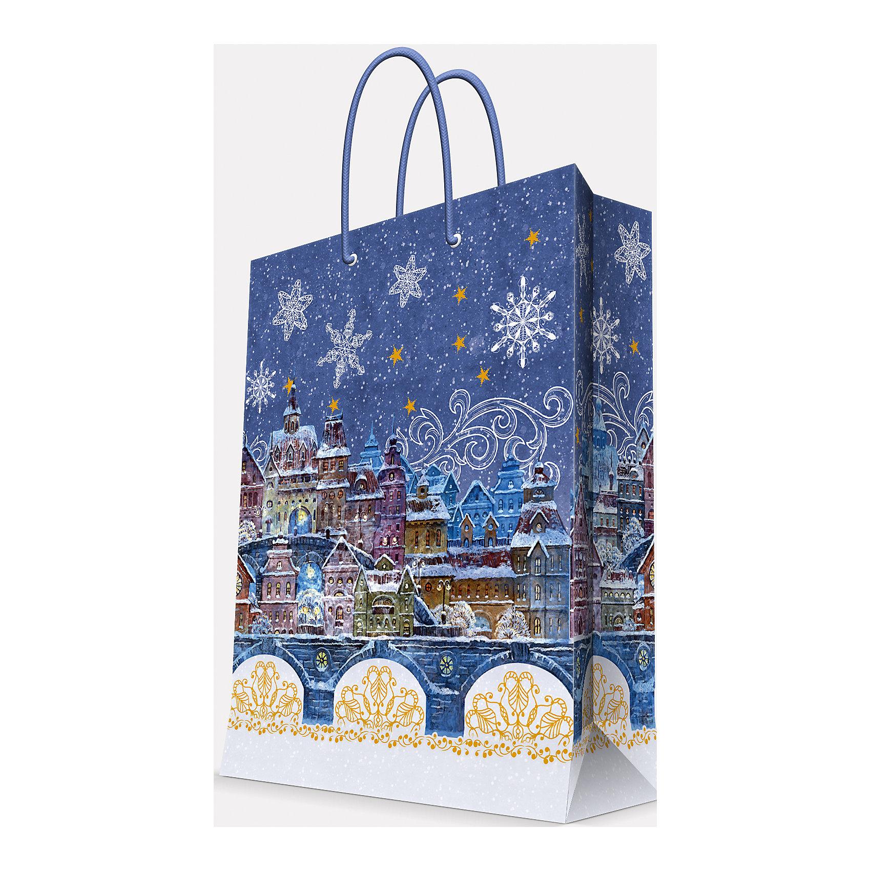 Magic Time Подарочный пакет Сказочный город 40,6*48,9*19 см magic time подарочный пакет новогодняя лампа 26 32 4 12 7 см