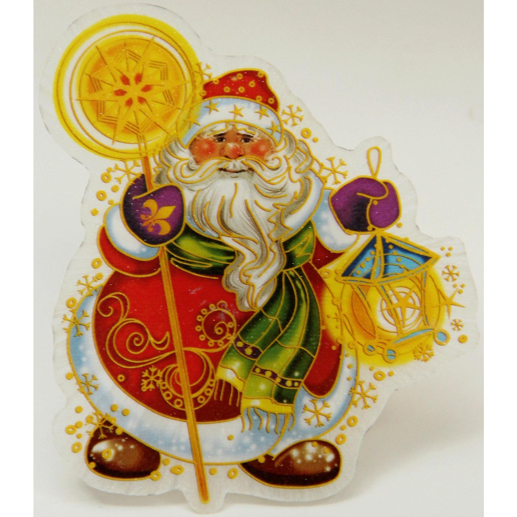 Украшение Дед Мороз со светодиодной подсветкойВсё для праздника<br>Сверкающие и светящиеся украшения - обязательный атрибут Нового года! Особое время - сам праздник и предновогодние хлопоты - ждут не только дети, но и взрослые! Праздничное настроение создает в первую очередь украшенный дом и наряженная ёлка. <br>Эта фигурка идет в комплекте с элементом питания, который помогает создавать для неё праздничную подсветку. Изделие произведено из безопасного для детей, прочного, но легкого, материала. Создайте с ним праздничное настроение себе и близким!<br><br>Дополнительная информация:<br><br>цвет: разноцветный;<br>материал: ПВХ;<br>элемент питания: CR2032;<br>мощность 0,06 Вт, напряжение 3 В;<br>размер: 11,5 x 10 x 3 см.<br><br>Украшение Дед Мороз со светодиодной подсветкой можно купить в нашем магазине.<br><br>Ширина мм: 100<br>Глубина мм: 100<br>Высота мм: 60<br>Вес г: 28<br>Возраст от месяцев: 36<br>Возраст до месяцев: 2147483647<br>Пол: Унисекс<br>Возраст: Детский<br>SKU: 4981627