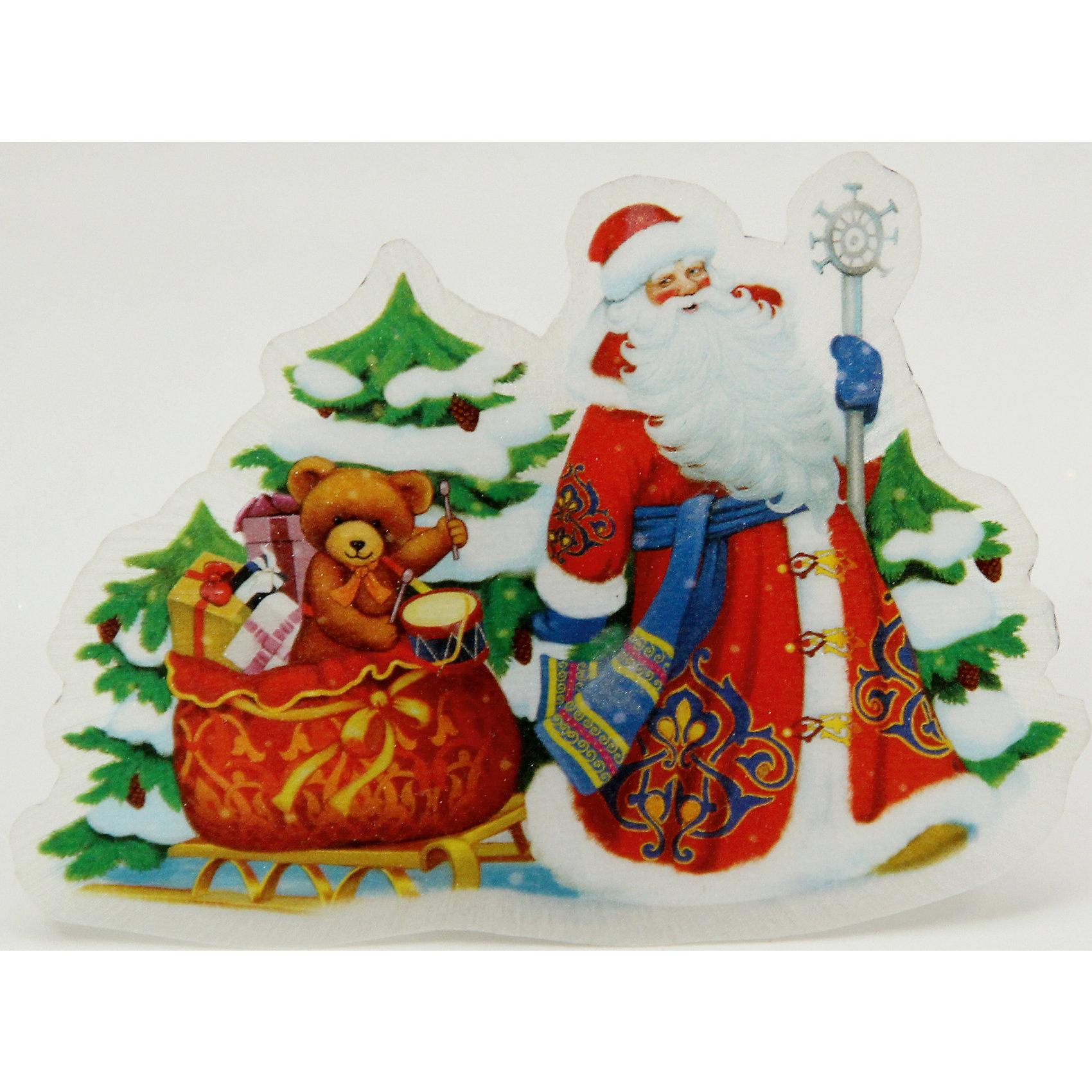 Украшение Дед Мороз и медвежонок со светодиодной подсветкойВсё для праздника<br>Сверкающие и светящиеся украшения - обязательный атрибут Нового года! Особое время - сам праздник и предновогодние хлопоты - ждут не только дети, но и взрослые! Праздничное настроение создает в первую очередь украшенный дом и наряженная ёлка. <br>Эта фигурка идет в комплекте с элементом питания, который помогает создавать для неё праздничную подсветку. Изделие произведено из безопасного для детей, прочного, но легкого, материала. Создайте с ним праздничное настроение себе и близким!<br><br>Дополнительная информация:<br><br>цвет: разноцветный;<br>материал: ПВХ;<br>элемент питания: CR2032;<br>мощность 0,06 Вт, напряжение 3 В;<br>размер: 12 x 8 x 3 см.<br><br>Украшение Дед Мороз и медвежонок со светодиодной подсветкой можно купить в нашем магазине.<br><br>Ширина мм: 100<br>Глубина мм: 100<br>Высота мм: 60<br>Вес г: 28<br>Возраст от месяцев: 36<br>Возраст до месяцев: 2147483647<br>Пол: Унисекс<br>Возраст: Детский<br>SKU: 4981628
