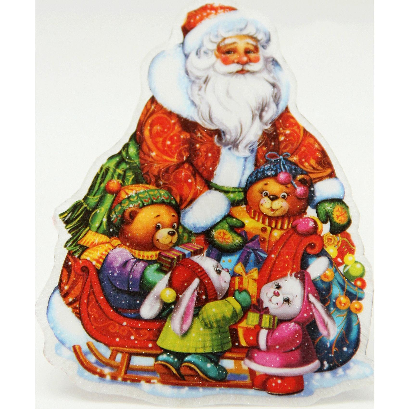 Украшение Новогоднее настроение со светодиодной подсветкойПриближение Нового года не может не радовать! Особое время - сам праздник и предновогодние хлопоты - ждут не только дети, но и взрослые! Праздничное настроение создает в первую очередь украшенный дом и наряженная ёлка. <br>Эта фигурка идет в комплекте с элементом питания, который помогает создавать для неё праздничную подсветку. Изделие произведено из безопасного для детей, прочного, но легкого, материала. Создайте с ним праздничное настроение себе и близким!<br><br>Дополнительная информация:<br><br>цвет: разноцветный;<br>материал: ПВХ;<br>элемент питания: CR2032;<br>мощность 0,06 Вт, напряжение 3 В;<br>размер: 11 x 10 x 3 см.<br><br>Украшение Новогоднее настроение со светодиодной подсветкой можно купить в нашем магазине.<br><br>Ширина мм: 100<br>Глубина мм: 100<br>Высота мм: 60<br>Вес г: 28<br>Возраст от месяцев: 36<br>Возраст до месяцев: 2147483647<br>Пол: Унисекс<br>Возраст: Детский<br>SKU: 4981631