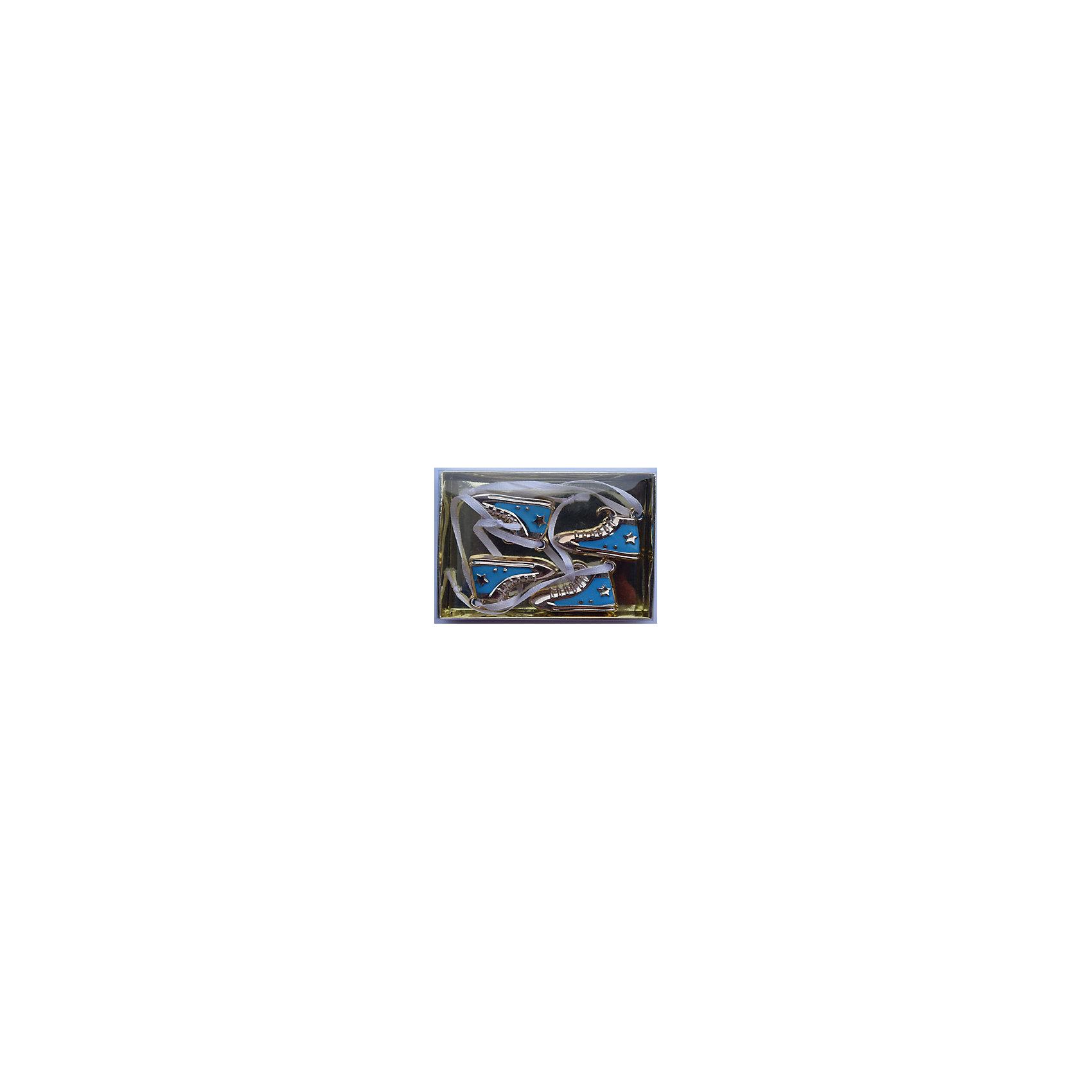 Magic Time Набор украшений Голубые кеды 4 шт набор новогодних подвесных украшений magic time розовые кеды 4 х 1 х 2 см 4 шт
