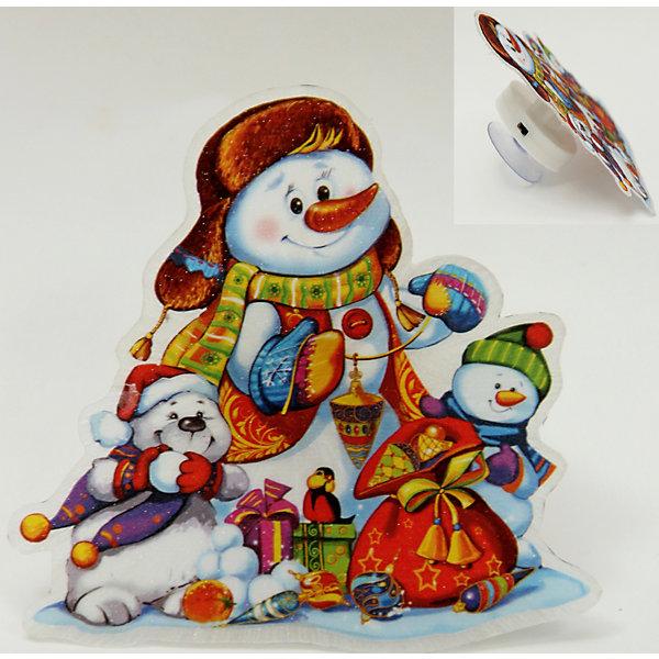 Украшение Снеговик со светодиодной подсветкойНовогодние световые фигуры<br>Предновогодние хлопоты многие любят даже больше самого праздника! Особое время - сам праздник и предновогодние хлопоты - ждут не только дети, но и взрослые! Праздничное настроение создает в первую очередь украшенный дом и наряженная ёлка. <br>Эта фигурка идет в комплекте с элементом питания, который помогает создавать для неё праздничную подсветку. Изделие произведено из безопасного для детей, прочного, но легкого, материала. Создайте с ним праздничное настроение себе и близким!<br><br>Дополнительная информация:<br><br>цвет: разноцветный;<br>материал: ПВХ;<br>элемент питания: CR2032;<br>мощность 0,06 Вт, напряжение 3 В;<br>размер: 11 x 11 x 3 см.<br><br>Украшение Снеговик со светодиодной подсветкой можно купить в нашем магазине.<br><br>Ширина мм: 150<br>Глубина мм: 150<br>Высота мм: 60<br>Вес г: 25<br>Возраст от месяцев: 36<br>Возраст до месяцев: 2147483647<br>Пол: Унисекс<br>Возраст: Детский<br>SKU: 4981666