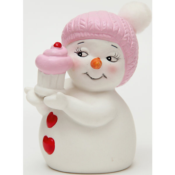 Керамический снеговик Девочка с кексикомНовогодние сувениры<br>Эта керамическая фигурка может стать отличным подарком на Новый год или украшением для дома! Особое время - сам праздник и предновогодние хлопоты - ждут не только дети, но и взрослые! Праздничное настроение создает в первую очередь украшенный дом и наряженная ёлка. <br>Эта фигурка создаст особый настрой, она выглядит очень празднично и симпатично. Изделие произведено из безопасного для детей материала. Создайте с ним праздничное настроение себе и близким!<br><br>Дополнительная информация:<br><br>цвет: разноцветный;<br>материал: керамика;<br>размер: 8 см.<br><br>Керамический снеговик Девочка с кексиком можно купить в нашем магазине.<br><br>Ширина мм: 150<br>Глубина мм: 150<br>Высота мм: 60<br>Вес г: 125<br>Возраст от месяцев: 36<br>Возраст до месяцев: 2147483647<br>Пол: Унисекс<br>Возраст: Детский<br>SKU: 4981671