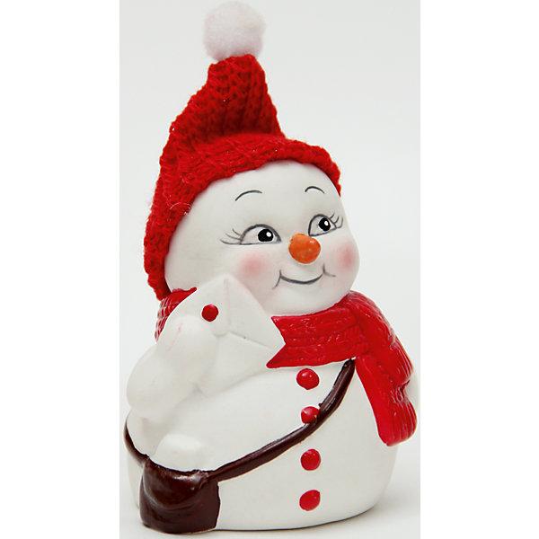 Керамический снеговик ПочтальонНовогодние сувениры<br>Эта керамическая фигурка может стать отличным подарком на Новый год или украшением для дома! Особое время - сам праздник и предновогодние хлопоты - ждут не только дети, но и взрослые! Праздничное настроение создает в первую очередь украшенный дом и наряженная ёлка. <br>Эта фигурка создаст особый настрой, она выглядит очень празднично и симпатично. Изделие произведено из безопасного для детей материала. Создайте с ним праздничное настроение себе и близким!<br><br>Дополнительная информация:<br><br>цвет: разноцветный;<br>материал: керамика;<br>размер: 8 см.<br><br>Керамический снеговик Почтальон можно купить в нашем магазине.<br><br>Ширина мм: 150<br>Глубина мм: 150<br>Высота мм: 60<br>Вес г: 93<br>Возраст от месяцев: 36<br>Возраст до месяцев: 2147483647<br>Пол: Унисекс<br>Возраст: Детский<br>SKU: 4981672