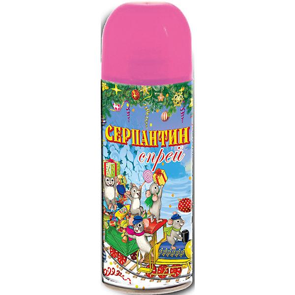 Розовый серпантин в спрееЁлочные игрушки<br>Серпантин - обязательный атрибут Нового года! Особое время - сам праздник и предновогодние хлопоты - ждут не только дети, но и взрослые! Осыпать семью и гостей дождем из конфетти и украшать дом серпантином - это старая любимая многими традиция.<br>Изделие произведено из безопасного для детей материала, серпантин продается в форме спрея - им легко украшать помещение. Создайте с ним праздничное настроение себе и близким!<br><br>Дополнительная информация:<br><br>цвет: розовый;<br>состав: изобутан, тетрафторэтан, каолин, кальций карбонат, вода, глицерин, красители;<br>размер: 5,2 х 17 см, 250мл.<br><br>Розовый серпантин в спрее можно купить в нашем магазине.<br><br>Ширина мм: 150<br>Глубина мм: 150<br>Высота мм: 60<br>Вес г: 123<br>Возраст от месяцев: 36<br>Возраст до месяцев: 2147483647<br>Пол: Унисекс<br>Возраст: Детский<br>SKU: 4981677