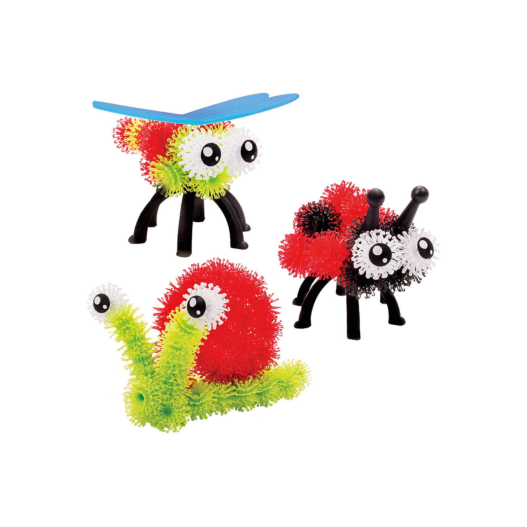 Базовый набор для творчества Bunchems,  в ассортиментеВаше представление о конструкторах измениться, когда Вы увидите базовый набор  Bunchems (Банчемс)  торговой марки Spin Master.  Цветные шарики-липучки в руках Вашего ребенка превращаются в пушистого котенка или щенка, а может быть хомячка? Кого Вы и Ваш ребенок хотели  бы завести? Липучки Bunchems (Банчемс) дарят детям и их родителям возможность создать кого угодно! Эти мягкие пластмассовые шарики с волосками, как у репейника, которые легко сцепляются друг с другом. Для лучшего сцепления необходимо как можно плотнее прижимать детали. Получившиеся модели не разваливаются, с ними можно играть дома, на улице, в ванной – где угодно! А в случае загрязнения конструктор легко отмывается теплой водой. С необычным конструктором, больше похожим на репейник, Ваш малыш проявит живость своей фантазии, создавая милых домашних питомцев, которые так похожи на настоящих! Работа с небольшими элементами способствует развитию мелкой моторики и координации движений рук. Приятные на ощупь шарики с волосками стимулирую нервные окончания на кончиках пальцев малыша, развивая тактильную чувствительность. Однако необходимо быть аккуратными во время игры! Не подносить Bunchems к волосам, домашним животным и тканям с ворсом – изделие может запутаться. В инструкциях приведены рекомендации, как безопасно извлечь липучки из волос в случае необходимости.<br><br>Дополнительная информация: <br><br>- возраст: от 4 лет<br>- для мальчиков и девочек<br>- элементы Bunchems – 60 шт.<br>- аксессуары для создания животных – 11 шт.<br>- брошюра с инструкцией и рекомендациями по использованию<br>- в наборе элементы белого и черного цветов, а также пластиковые лапы (4 шт.), ушки двух видов (4 шт.), глазки (2 пары) и нос.<br>- материал: мягкий пластик.<br>- страна обладатель бренда: Канада.<br><br>Базовый набор для творчества Bunchems можно купить в нашем интернет-магазине.<br><br>Ширина мм: 17<br>Глубина мм: 292<br>Высота мм: 246<br>Вес г: 500<br>Возраст от 