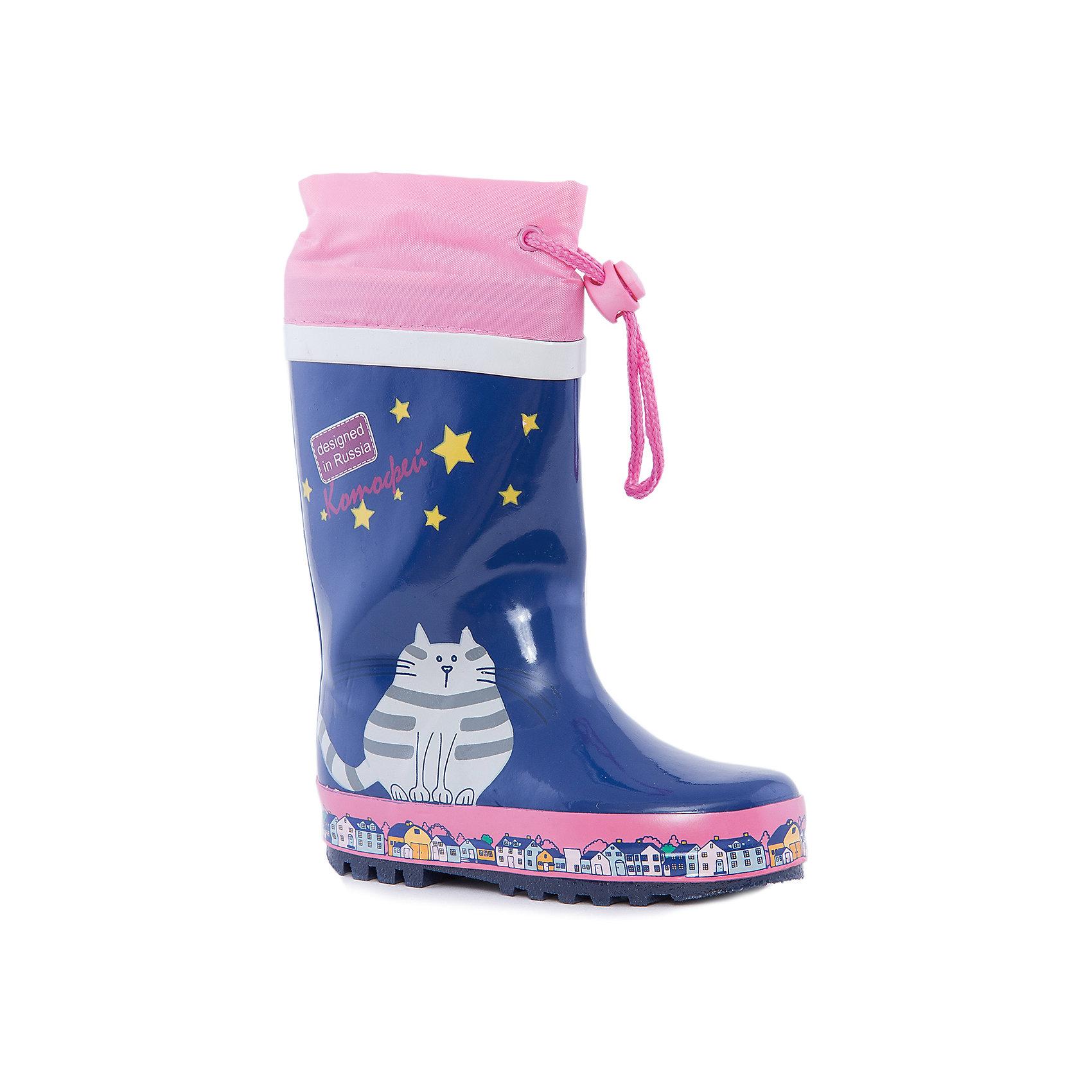 Сапоги для девочки КотофейКотофей – качественная и стильная детская обувь по доступным ценам. С каждым днем популярность бренда растет.  Резиновые сапожки – незаменимая вещь для осенней погоды. Теперь малышка может изучать лужи без риска промочить ножки и простудиться. Милый, современный дизайн оценят все модницы. Нежные цвета сочетаются с любой одеждой, что позволяет создать множество стильных образов.<br><br>Дополнительная информация:<br><br>цвет: сине-розовый;<br>вид крепления: горячая вулканизация;<br>застежка: шнур с фиксатором;<br>температурный режим: от 0° С до +15° С<br>.<br>Состав:<br>материал верха  – резина;<br>материал подклада  - текстиль;<br>подошва - плотная резина.<br><br>Малодетские резиновые сапоги для девочек дошкольного возраста от фирмы  Котофей можно приобрести в нашем магазине.<br><br>Ширина мм: 257<br>Глубина мм: 180<br>Высота мм: 130<br>Вес г: 420<br>Цвет: синий<br>Возраст от месяцев: 36<br>Возраст до месяцев: 48<br>Пол: Женский<br>Возраст: Детский<br>Размер: 27,25,26,28,29,24<br>SKU: 4982057