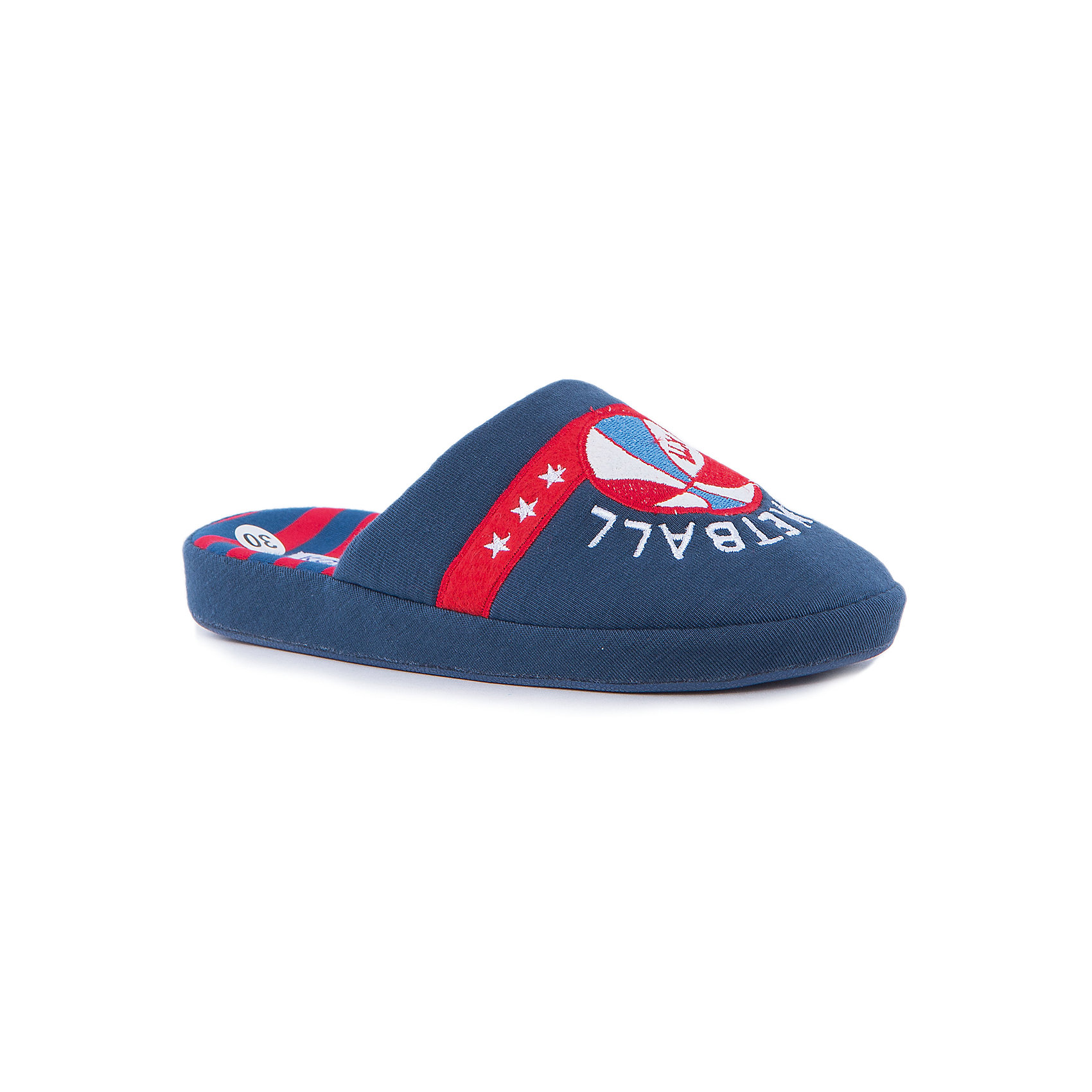 Тапки для мальчика КотофейКотофей – качественная и стильная детская обувь по доступным ценам. С каждым днем популярность бренда растет.  Обувь – отражение человека. Домашней обуви необходимо уделять такое же внимание, как и уличной. Дизайн тапочек оценят все любители баскетбола. На закрытой части обуви есть аппликация – вышивка с эмблемой этого спорта. Такая домашняя обувь одновременно и согреет и будет стильным аксессуаром к любимой пижамке подходящего цвета.<br><br>Дополнительная информация:<br><br>цвет: цветной;<br>крепление: клеевое.<br><br>Состав:<br>верх – утепленный текстиль;<br>материал подклада – текстиль;<br>подошва – ТЭП.<br><br>Цветные тапочки для мальчика дошкольного возраста из текстиля от фирмы Котофей можно приобрести в нашем магазине.<br><br>Ширина мм: 219<br>Глубина мм: 158<br>Высота мм: 118<br>Вес г: 274<br>Цвет: разноцветный<br>Возраст от месяцев: 108<br>Возраст до месяцев: 120<br>Пол: Мужской<br>Возраст: Детский<br>Размер: 33,31,35,32,34,30<br>SKU: 4982078