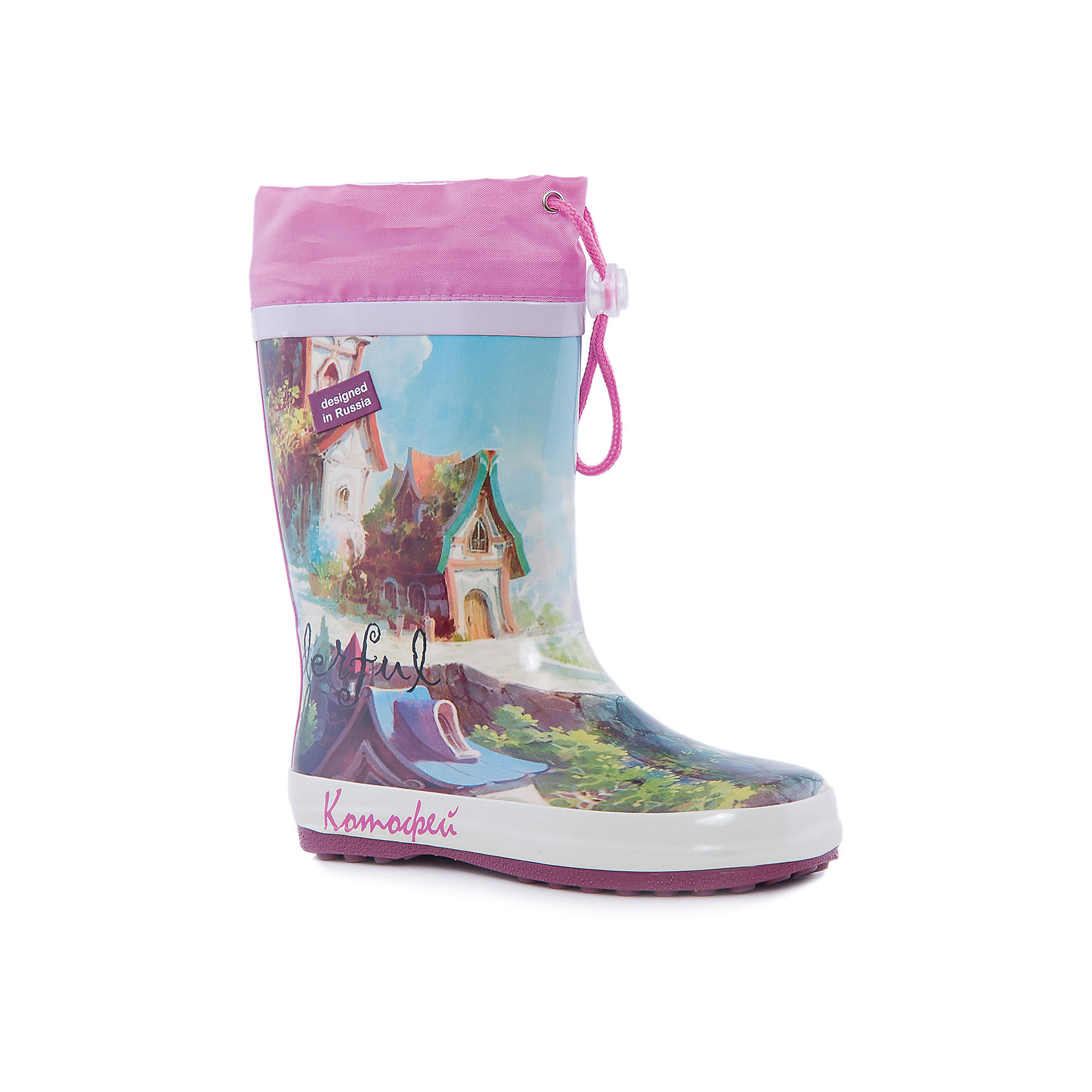 Сапоги для девочки КотофейКотофей – качественная и стильная детская обувь по доступным ценам. С каждым днем популярность бренда растет.  Резиновые сапожки – незаменимая вещь для осенней погоды. Теперь малышка может изучать лужи без риска промочить ножки и простудиться. На сапожках выполнен сказочный принт, который полюбится всем модницам. Нежные цвета сочетаются с любой одеждой, что позволяет создать множество стильных образов.<br><br>Дополнительная информация:<br><br>цвет: цветной;<br>вид крепления: горячая вулканизация;<br>застежка: шнур с фиксатором;<br>температурный режим: от 0° С до +15° С.<br><br>Состав:<br>материал верха  – резина;<br>материал подклада  - текстиль;<br>подошва - плотная резина.<br><br>Резиновые сапоги для девочек дошкольного и школьного возраста от фирмы  Котофей можно приобрести в нашем магазине.<br><br>Ширина мм: 257<br>Глубина мм: 180<br>Высота мм: 130<br>Вес г: 420<br>Цвет: разноцветный<br>Возраст от месяцев: 84<br>Возраст до месяцев: 96<br>Пол: Женский<br>Возраст: Детский<br>Размер: 31,32,30,35,34,33<br>SKU: 4982099