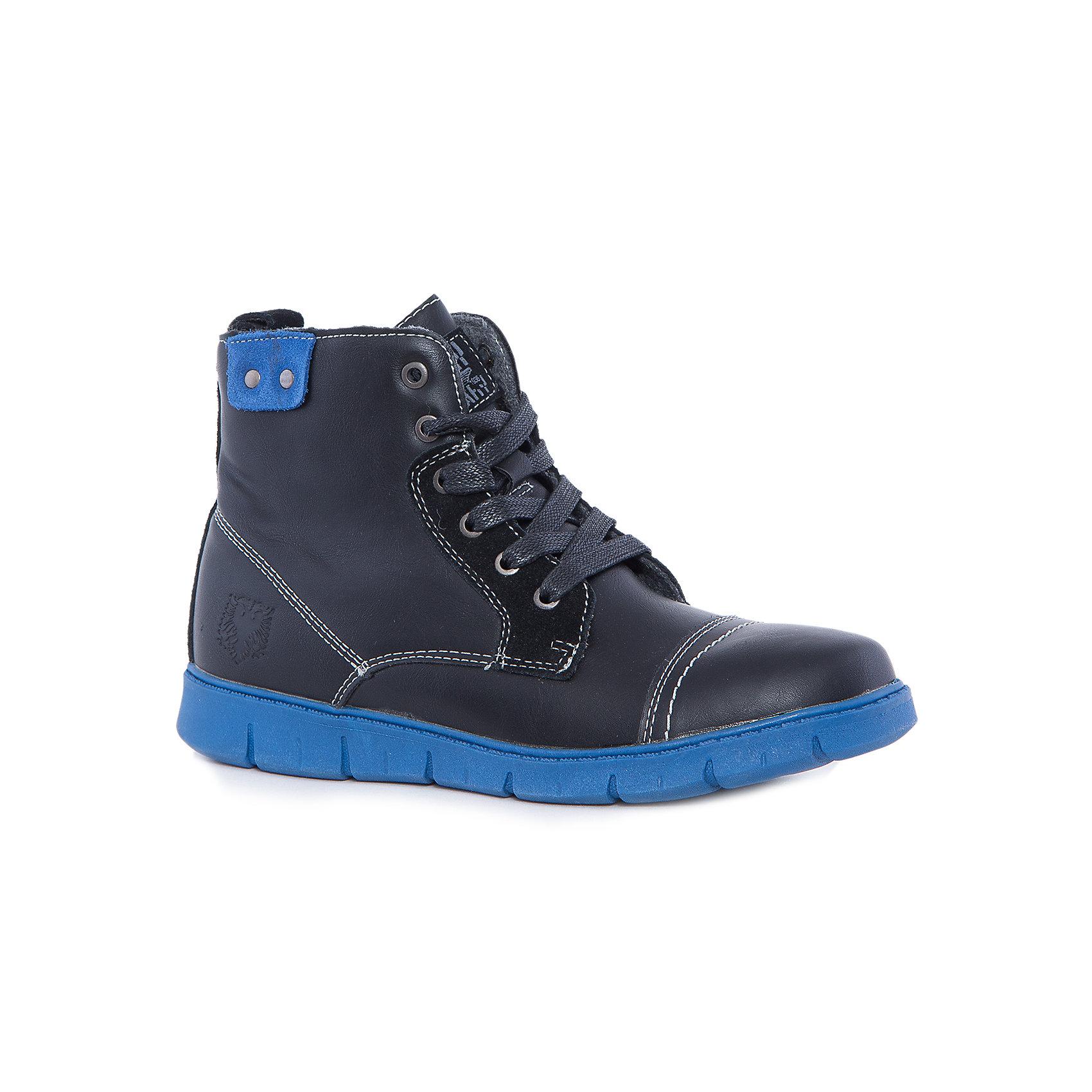 Ботинки для мальчика КотофейБотинки<br>Котофей – качественная и стильная детская обувь по доступным ценам. С каждым днем популярность бренда растет.  Новая модель зимних ботиночек – отличный выбор обуви, который подходит и для прогулки и для повседневного ношения вместе со школьной формой. Классический дизайн и модная деталь в виде синей подошвы образуют уникальную модель ботиночек, которая полюбится и мамам и малышам. <br><br>Дополнительная информация:<br><br>цвет: черный;<br>вид крепления: на клею;<br>застежка: шнуровка, липучка;<br>температурный режим: от -10 °С до +10° С.<br><br>Состав:<br>материал верха – комбинированный;<br>материал подклада – байка;<br>подошва – ТЭП.<br><br>Зимние ботиночки для мальчика школьного возраста из искусственной кожи от фирмы Котофей можно приобрести в нашем магазине.<br><br>Ширина мм: 262<br>Глубина мм: 176<br>Высота мм: 97<br>Вес г: 427<br>Цвет: черный<br>Возраст от месяцев: 132<br>Возраст до месяцев: 144<br>Пол: Мужской<br>Возраст: Детский<br>Размер: 35,38,36,33,34,37<br>SKU: 4982113