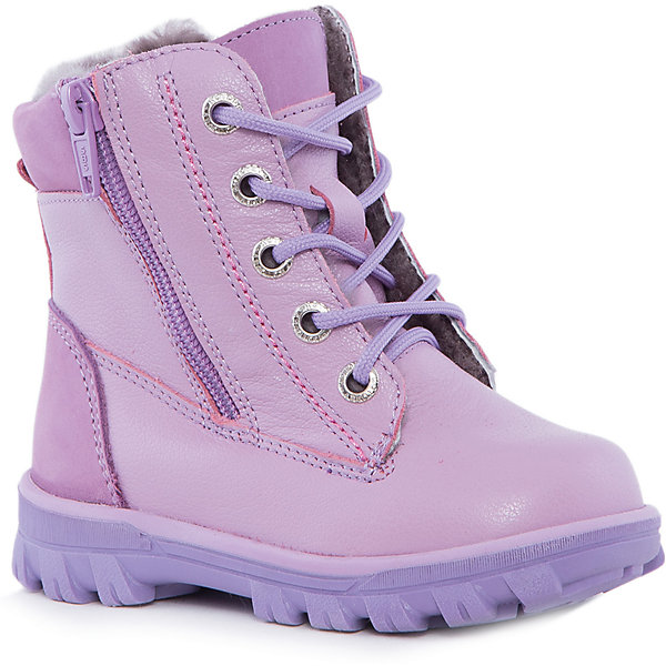 Ботинки для девочки КотофейБотинки<br>Котофей – качественная и стильная детская обувь по доступным ценам. С каждым днем популярность бренда растет.  Новые зимние ботиночки – модная и удобная обувь, способная защитить от осеннего холода и дополнить стильный образ девочки. Ботиночки изготовлены из натурального материала. Тепло обеспечивают плотная кожа снаружи и овчина внутри. Высокая подошва защитит от промокания.<br><br>Дополнительная информация:<br><br>цвет: сиреневый;<br>вид крепления: на клею;<br>застежка: шнурки;<br>температурный режим: от -10 °С до +10° С.<br><br>Состав:<br>верх – плотная кожа;<br>подклад – овчина;<br>материал подошвы – ТЭП.<br><br>Зимние ботиночки для девочек дошкольного возраста из кожи от фирмы Котофей можно приобрести у нас в магазине.<br>Ширина мм: 262; Глубина мм: 176; Высота мм: 97; Вес г: 427; Цвет: лиловый; Возраст от месяцев: 24; Возраст до месяцев: 24; Пол: Женский; Возраст: Детский; Размер: 25,28,29,26,27; SKU: 4982120;