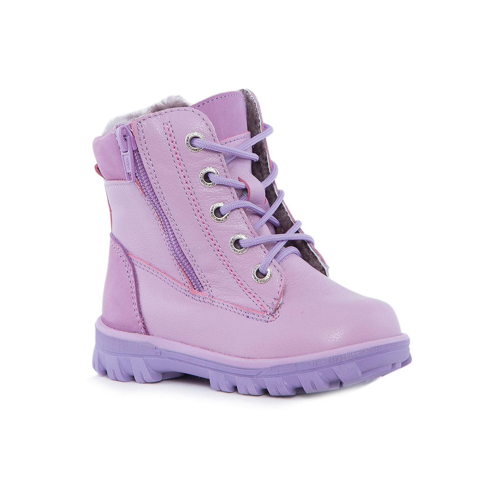 Ботинки для девочки КотофейБотинки<br>Котофей – качественная и стильная детская обувь по доступным ценам. С каждым днем популярность бренда растет.  Новые зимние ботиночки – модная и удобная обувь, способная защитить от осеннего холода и дополнить стильный образ девочки. Ботиночки изготовлены из натурального материала. Тепло обеспечивают плотная кожа снаружи и овчина внутри. Высокая подошва защитит от промокания.<br><br>Дополнительная информация:<br><br>цвет: сиреневый;<br>вид крепления: на клею;<br>застежка: шнурки;<br>температурный режим: от -10 °С до +10° С.<br><br>Состав:<br>верх – плотная кожа;<br>подклад – овчина;<br>материал подошвы – ТЭП.<br><br>Зимние ботиночки для девочек дошкольного возраста из кожи от фирмы Котофей можно приобрести у нас в магазине.<br><br>Ширина мм: 262<br>Глубина мм: 176<br>Высота мм: 97<br>Вес г: 427<br>Цвет: лиловый<br>Возраст от месяцев: 48<br>Возраст до месяцев: 60<br>Пол: Женский<br>Возраст: Детский<br>Размер: 28,29,27,26,25<br>SKU: 4982120