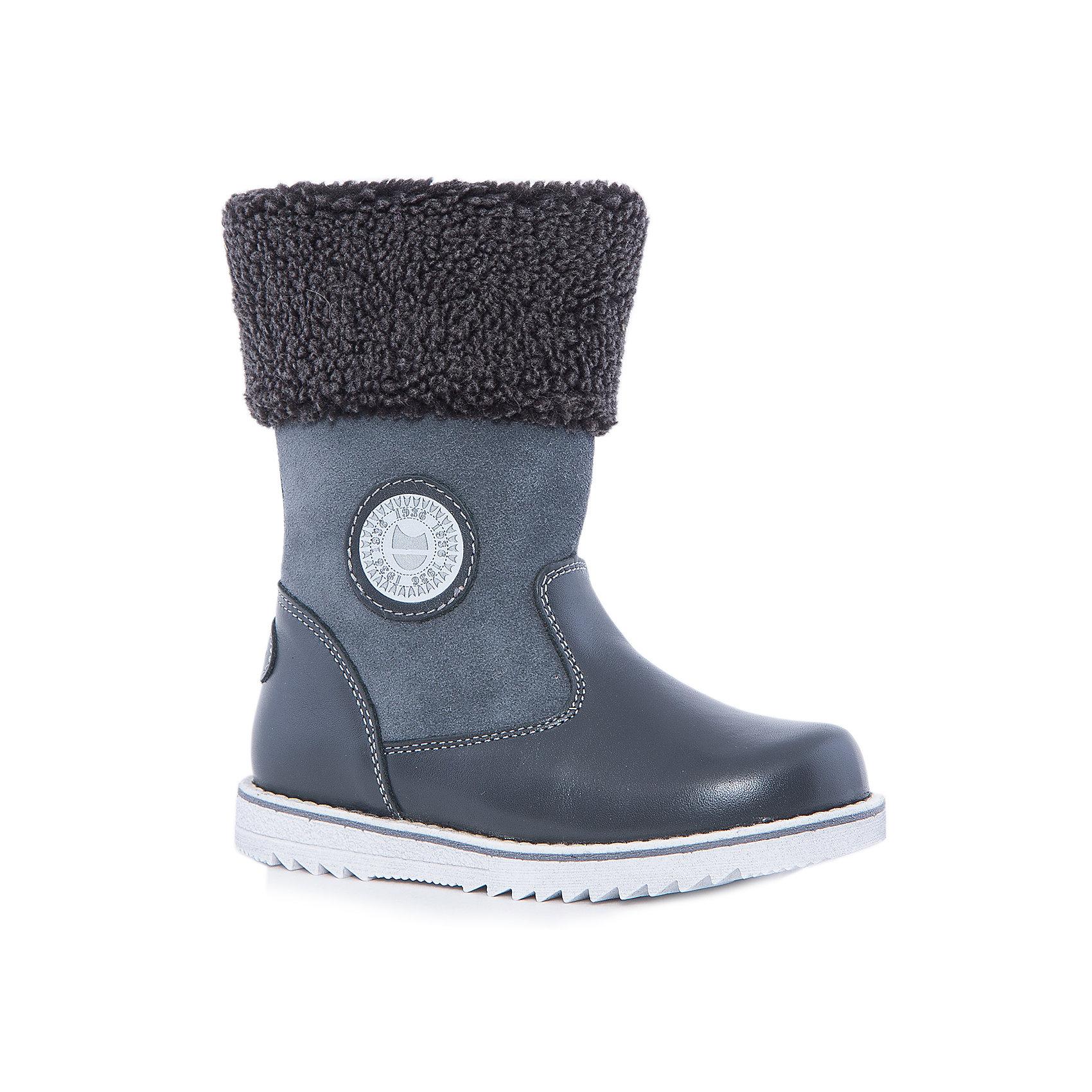 Сапоги для мальчика КотофейКотофей – качественная и стильная детская обувь по доступным ценам. С каждым днем популярность бренда растет.  Сапожки – универсальная обувь для холодов, как для мальчиков, так и для девочек. Новая модель – сочетание проверенной классической формы сапог и модной манжеты из овчины в районе голени. Кожа и замша вместе создают стильный образ сапог. Натуральные материалы отвечают всем требованиям по безопасности.<br><br>Дополнительная информация:<br><br>цвет: серый;<br>вид крепления: на клею;<br>застежка: молния;<br>температурный режим: от -15 °С до +5° С.<br><br>Состав:<br>материал верха – кожа;<br>материал подклада – натуральная овчина;<br>подошва – ТЭП.<br><br>Зимние сапожки из натуральной кожи для мальчика дошкольного возраста от фирмы Котофей можно купить в нашем магазине.<br><br>Ширина мм: 257<br>Глубина мм: 180<br>Высота мм: 130<br>Вес г: 420<br>Цвет: серый<br>Возраст от месяцев: 36<br>Возраст до месяцев: 48<br>Пол: Мужской<br>Возраст: Детский<br>Размер: 27,29,28,30,31<br>SKU: 4982196
