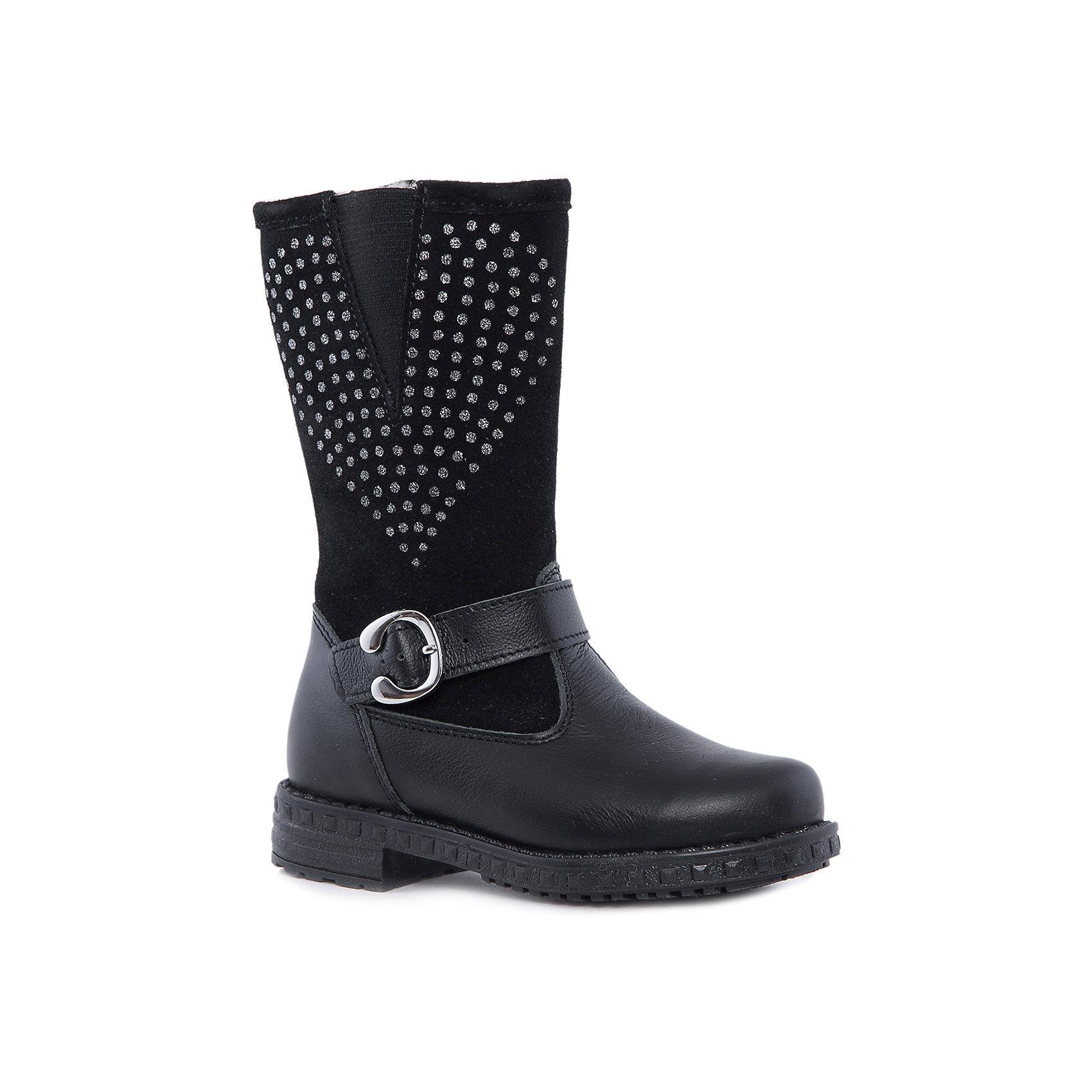 Сапоги для девочки КотофейКотофей – качественная и стильная детская обувь по доступным ценам. С каждым днем популярность бренда растет.  Выбор детской обуви – серьезное и ответственное занятие, так как от качества ботиночек зависит здоровье малыша. Кожа и замша – классическое сочетание стильной обуви. Оригинальности модели добавляют блестящая аппликация – сердечко и модная пряжка.  Универсальный пошив позволит создать множество образов для малышки.<br>Дополнительная информация:<br><br>цвет: чёрный;<br>вид крепления: на клею;<br>застежка: молния;<br>температурный режим: от 0°С до +15° С.<br><br>Состав:<br>материал верха – натуральная кожа;<br>подкладка – байковый материл;<br>подошва – ТЭП.<br><br>Осенние сапожки из натуральных материалов для девочки дошкольного возраста от фирмы Котофей можно приобрести у нас в магазине.<br><br>Ширина мм: 257<br>Глубина мм: 180<br>Высота мм: 130<br>Вес г: 420<br>Цвет: черный<br>Возраст от месяцев: 36<br>Возраст до месяцев: 48<br>Пол: Женский<br>Возраст: Детский<br>Размер: 27,31,30,29,28<br>SKU: 4982208