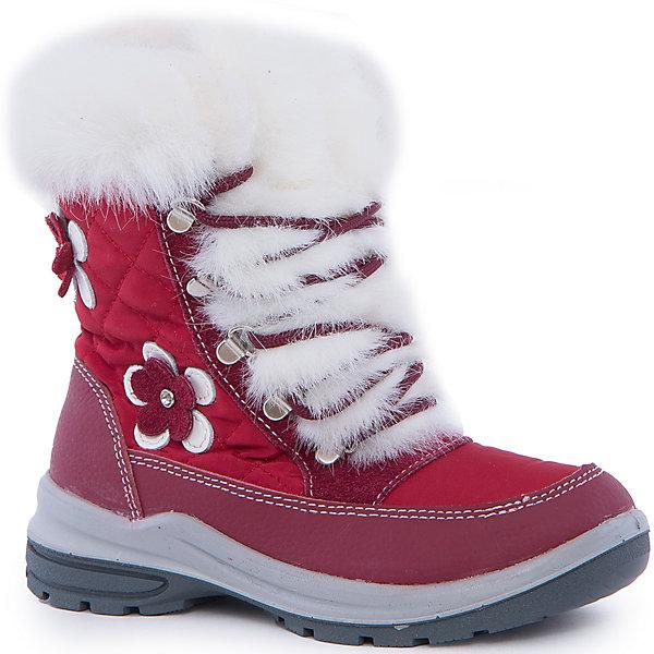 Ботинки для девочки КотофейБотинки<br>Котофей – качественная и стильная детская обувь по доступным ценам. С каждым днем популярность бренда растет.  Зимние ботинки для девочки из новой коллекции отвечают всем модным тенденциям и требованиям по качеству одновременно. У модели есть стильная белая меховая отстрочка, которая добавляет нежности и романтичности образу. Сбоку прикреплена аппликация в виде модного цветка. <br><br>Дополнительная информация:<br><br>цвет: синий;<br>крепление: литьевое;<br>застежка: пластмассовая молния;<br>температурный режим: от -15 °С до +5° С.<br><br>Состав:<br>верх – комбинированный материал;<br>подклад – мех шерстяной;<br>материал подошвы – ПУ/резина.<br><br>Зимние сапожки для девочек  дошкольного возраста из кожи от фирмы Котофей можно приобрести у нас в магазине.<br><br>Ширина мм: 257<br>Глубина мм: 180<br>Высота мм: 130<br>Вес г: 420<br>Цвет: красный<br>Возраст от месяцев: 36<br>Возраст до месяцев: 48<br>Пол: Женский<br>Возраст: Детский<br>Размер: 27,30,29,28<br>SKU: 4982214