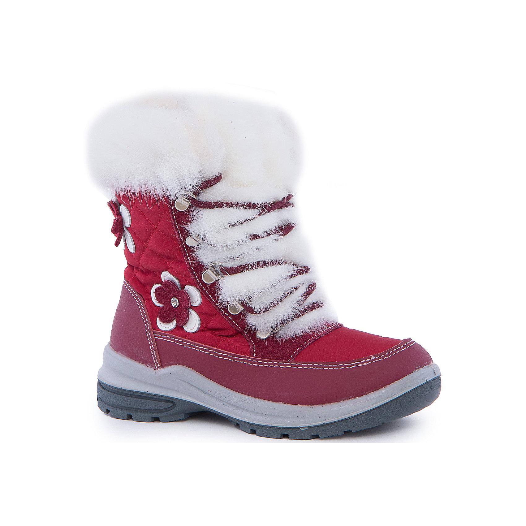 Ботинки для девочки КотофейБотинки<br>Котофей – качественная и стильная детская обувь по доступным ценам. С каждым днем популярность бренда растет.  Зимние ботинки для девочки из новой коллекции отвечают всем модным тенденциям и требованиям по качеству одновременно. У модели есть стильная белая меховая отстрочка, которая добавляет нежности и романтичности образу. Сбоку прикреплена аппликация в виде модного цветка. <br><br>Дополнительная информация:<br><br>цвет: синий;<br>крепление: литьевое;<br>застежка: пластмассовая молния;<br>температурный режим: от -15 °С до +5° С.<br><br>Состав:<br>верх – комбинированный материал;<br>подклад – мех шерстяной;<br>материал подошвы – ПУ/резина.<br><br>Зимние сапожки для девочек  дошкольного возраста из кожи от фирмы Котофей можно приобрести у нас в магазине.<br><br>Ширина мм: 257<br>Глубина мм: 180<br>Высота мм: 130<br>Вес г: 420<br>Цвет: красный<br>Возраст от месяцев: 36<br>Возраст до месяцев: 48<br>Пол: Женский<br>Возраст: Детский<br>Размер: 27,29,30,28<br>SKU: 4982214