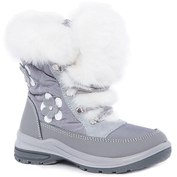 Ботинки для девочки КотофейСапоги<br>Котофей – качественная и стильная детская обувь по доступным ценам. С каждым днем популярность бренда растет.  Зимние ботинки для девочки из новой коллекции отвечают всем модным тенденциям и требованиям по качеству одновременно. У модели есть стильная белая меховая отстрочка, которая добавляет нежности и романтичности образу. Сбоку прикреплена аппликация в виде модного цветка. <br><br>Дополнительная информация:<br><br>цвет: фиолетовый;<br>крепление: литьевое;<br>застежка: пластмассовая молния;<br>температурный режим: от -15 °С до +5° С.<br><br>Состав:<br>верх – комбинированный материал;<br>подклад – мех шерстяной;<br>материал подошвы – ПУ/резина.<br><br>Зимние сапожки для девочек  дошкольного возраста из кожи от фирмы Котофей можно приобрести у нас в магазине.<br><br>Ширина мм: 257<br>Глубина мм: 180<br>Высота мм: 130<br>Вес г: 420<br>Цвет: серый<br>Возраст от месяцев: 36<br>Возраст до месяцев: 48<br>Пол: Женский<br>Возраст: Детский<br>Размер: 27,28,30,29<br>SKU: 4982224