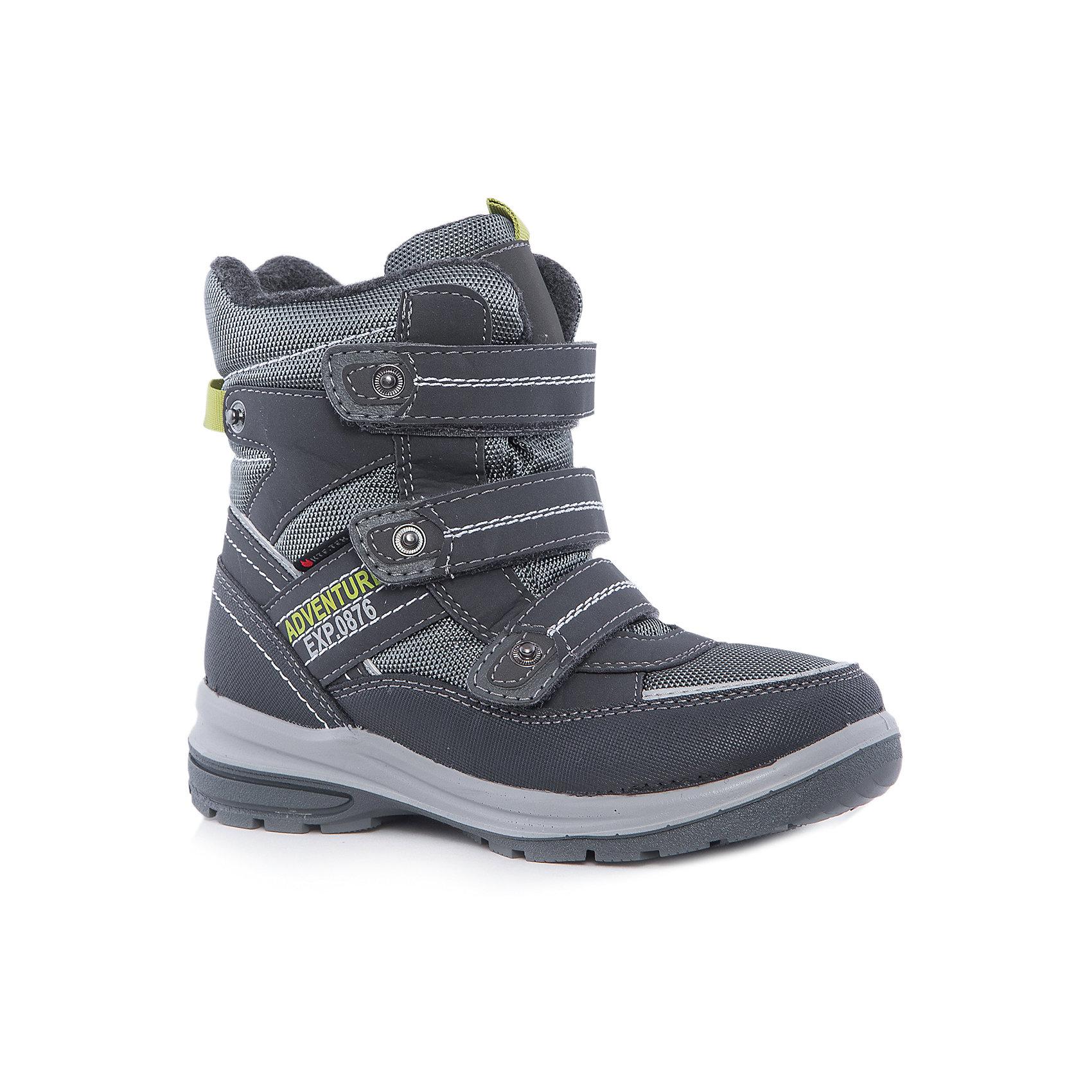Ботинки для мальчика КотофейКотофей – качественная и стильная детская обувь по доступным ценам. С каждым днем популярность бренда растет.  С наступлением осенних холодов очень важно выбрать удобную и теплую обувь, которая защитит ножки малыша от промокания, а здоровье от простуды. Стильные спортивные ботинки на удобной застежке – липе – прекрасный выбор обновки гардероба к новому сезону. Модель отвечает всем модным требованиям.<br><br>Дополнительная информация:<br><br>цвет: серо-салатовый;<br>вид крепления: литьевой;<br>застежка: липучка;<br>температурный режим: от 0°С до +15° С.<br><br>Состав:<br>верх – комбинированный материал;<br>подклад – шерстяной мех;<br>подошва – ПУ/резина.<br><br>Осенние ботиночки из искусственного материала для мальчика школьного возраста от фирмы Котофей можно приобрести у нас в магазине.<br><br>Ширина мм: 262<br>Глубина мм: 176<br>Высота мм: 97<br>Вес г: 427<br>Цвет: grau/gr?n<br>Возраст от месяцев: 132<br>Возраст до месяцев: 144<br>Пол: Мужской<br>Возраст: Детский<br>Размер: 35,33,34,32<br>SKU: 4982274